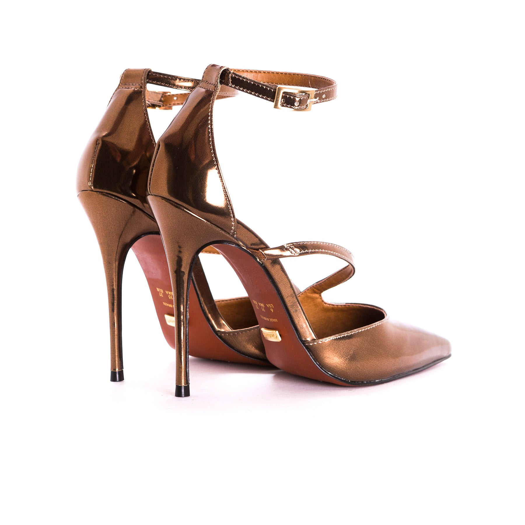 Lina Bronze Leather Pumps