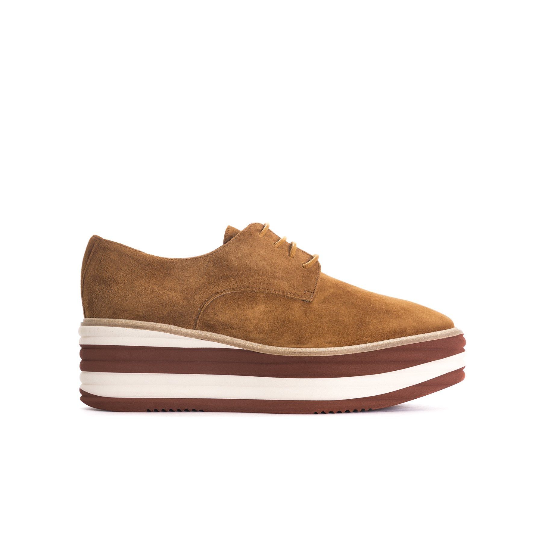 Lisa Tan Suede Flatforms
