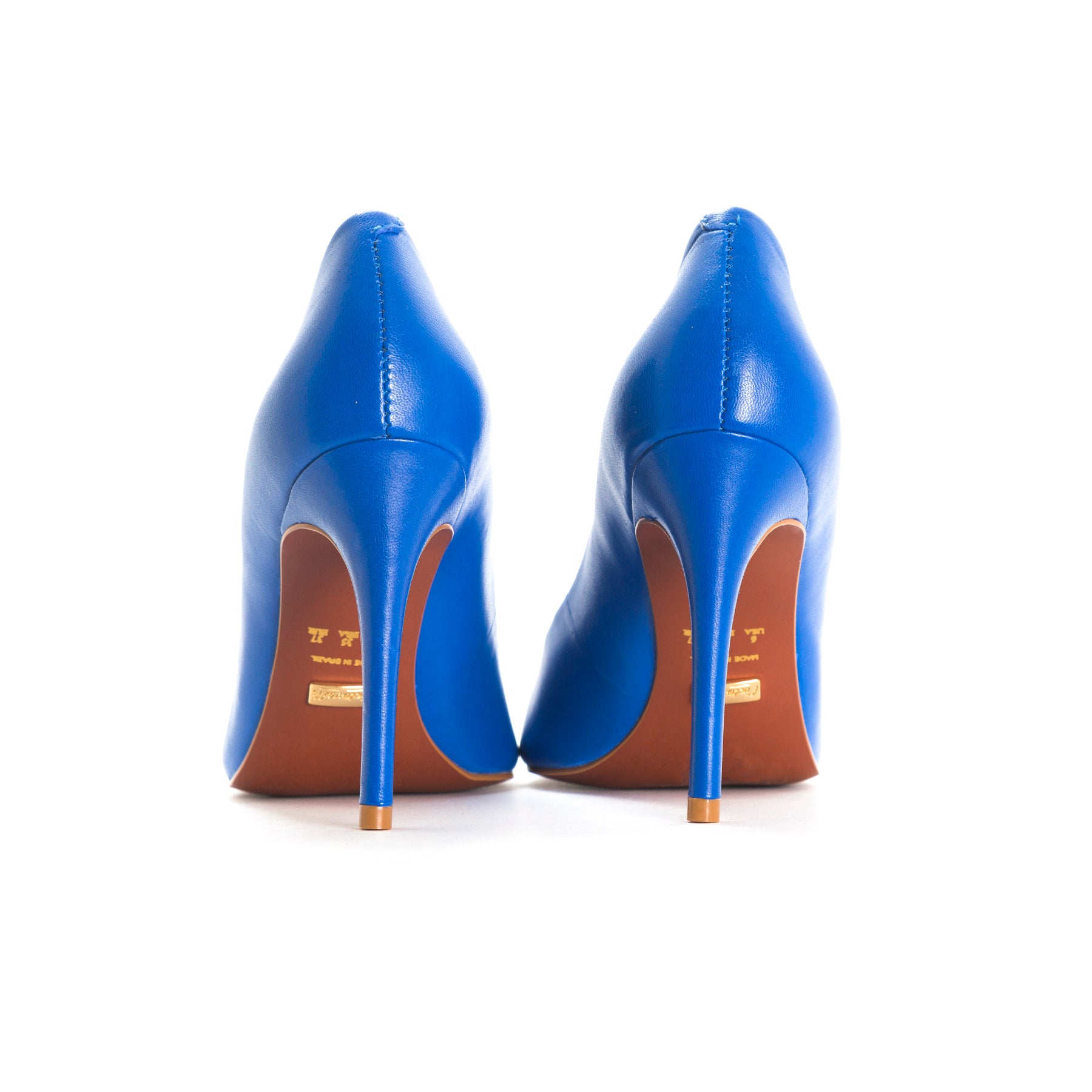 Love Blue Leather Pumps