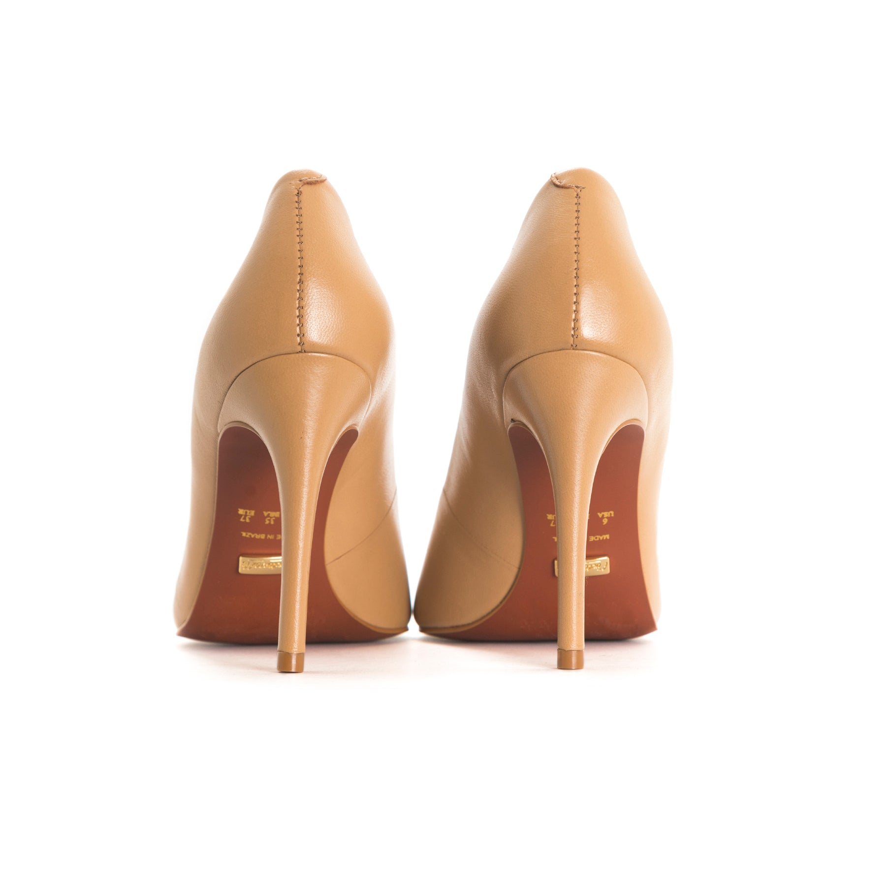Love Taupe Leather Pumps