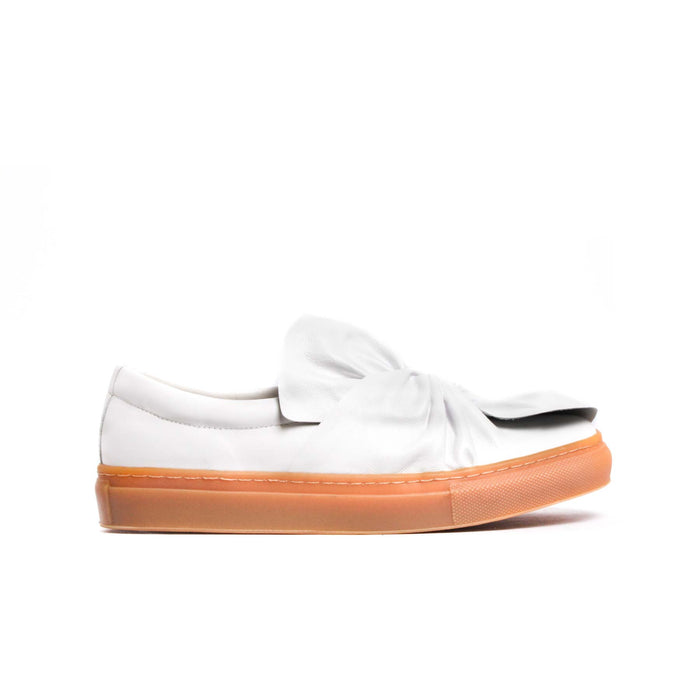 Luby White Leather