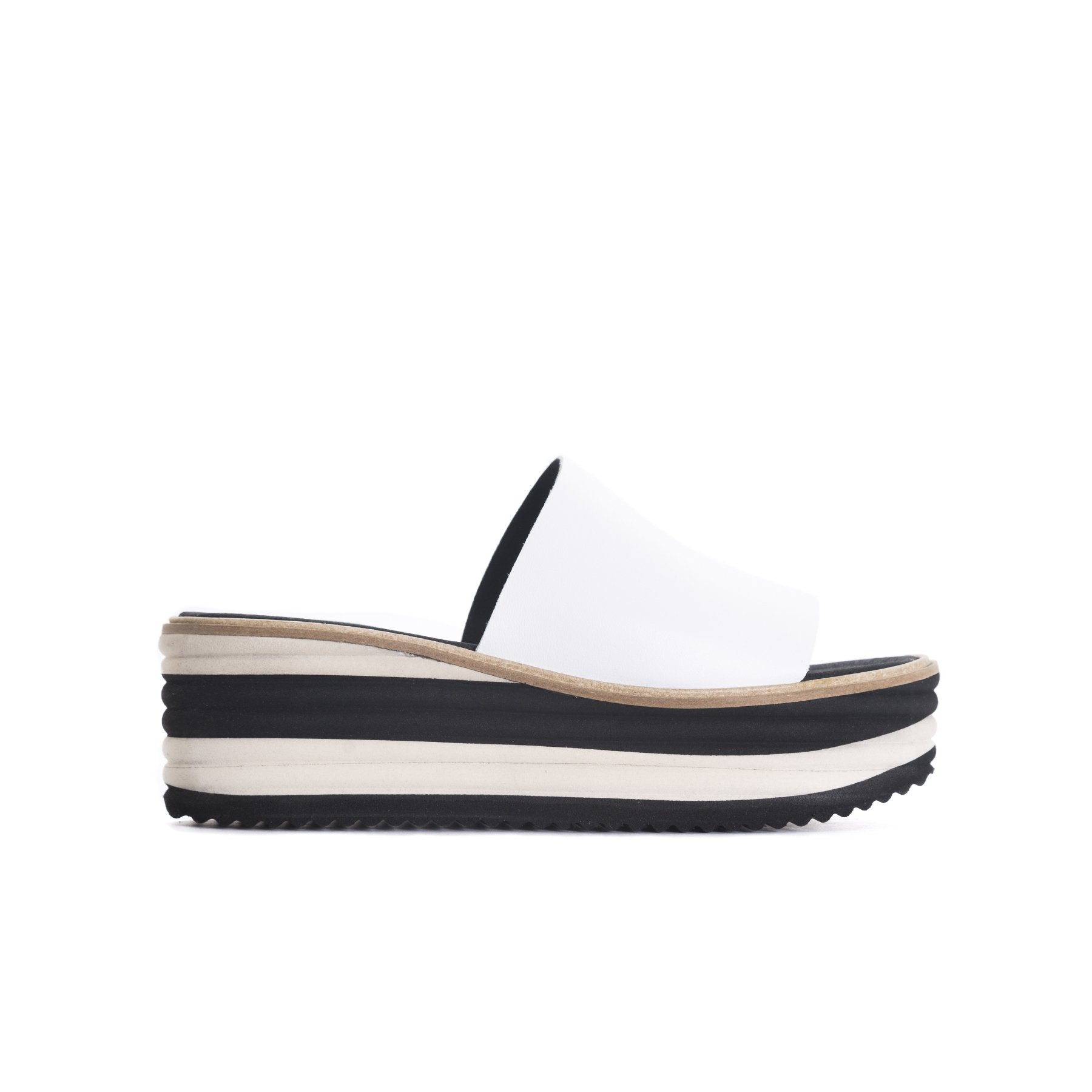 Lysana White Leather Sandals