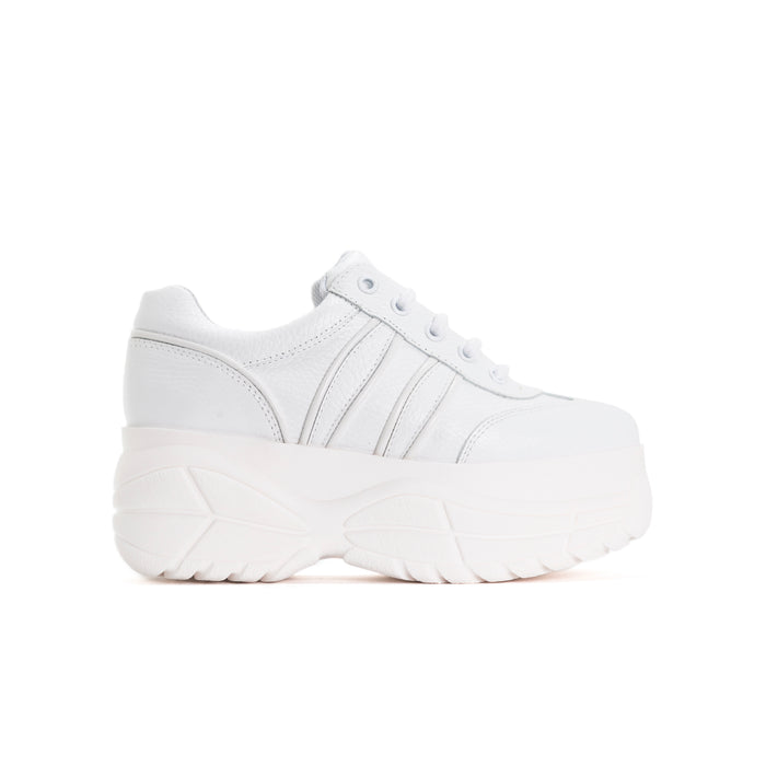 Magic White Leather Sneakers