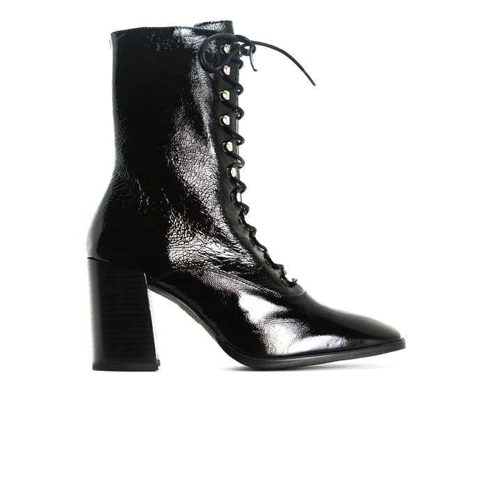 Malmo Black Leather Booties