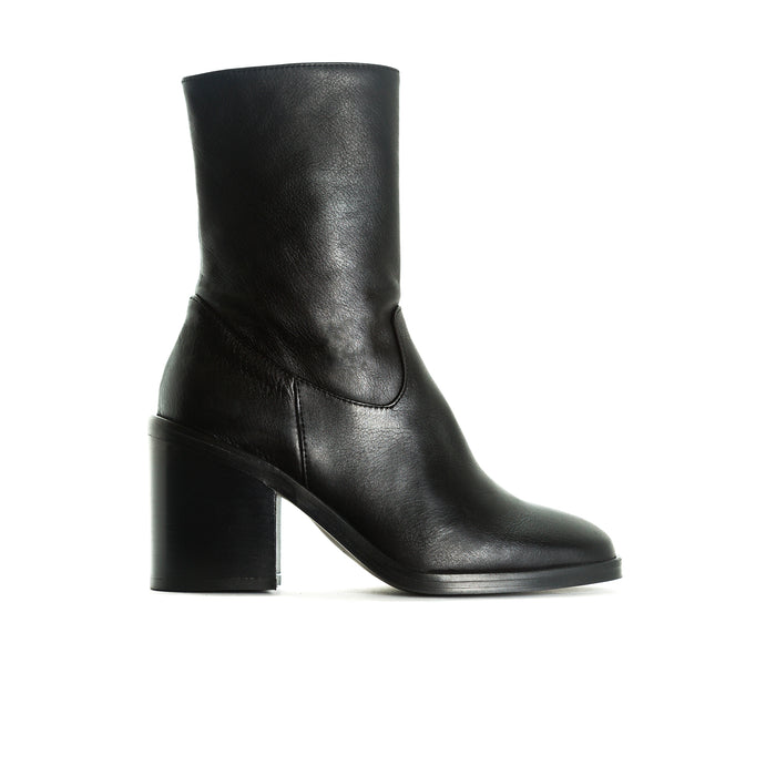 Maralik Black Leather Booties
