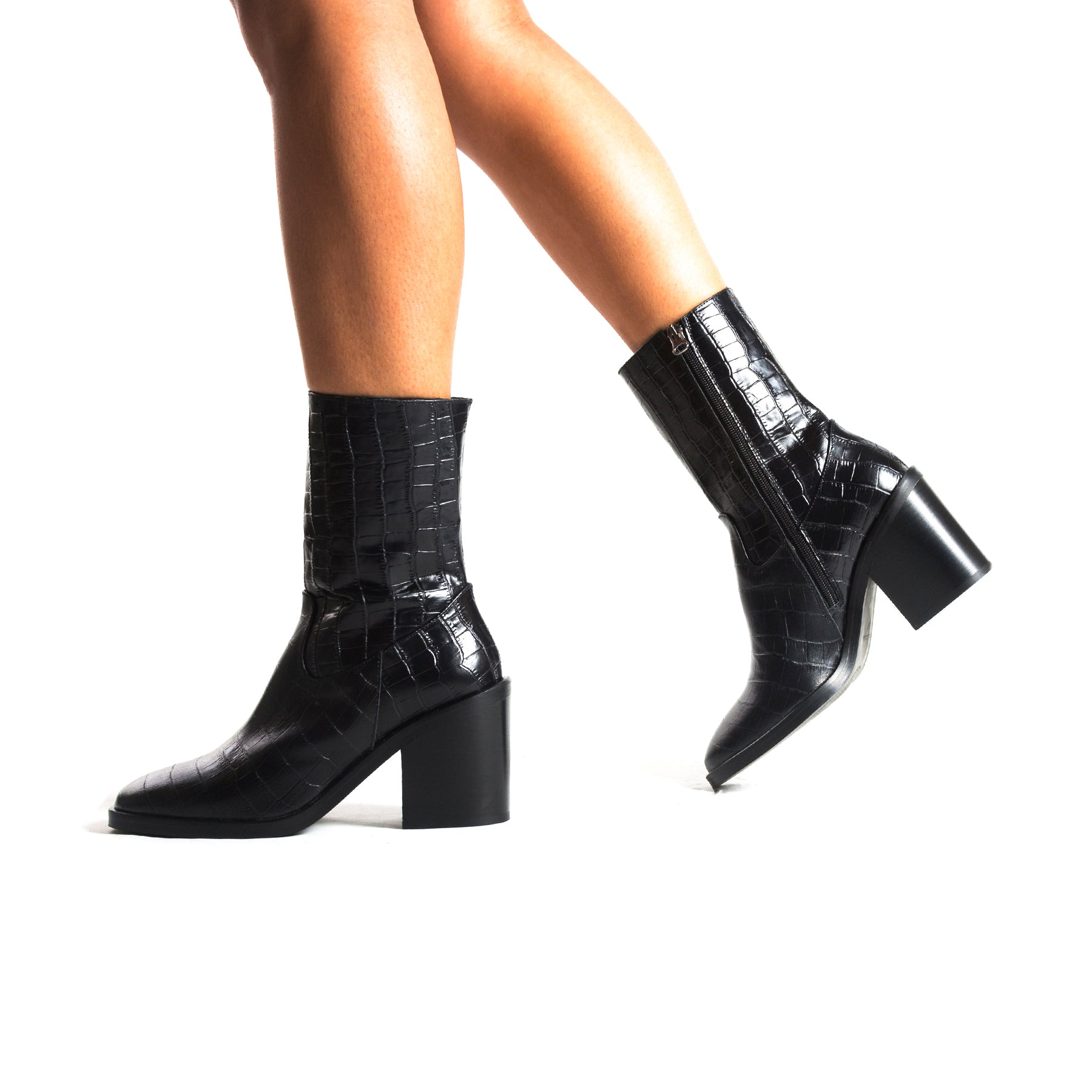 Maralik Black Croco Booties