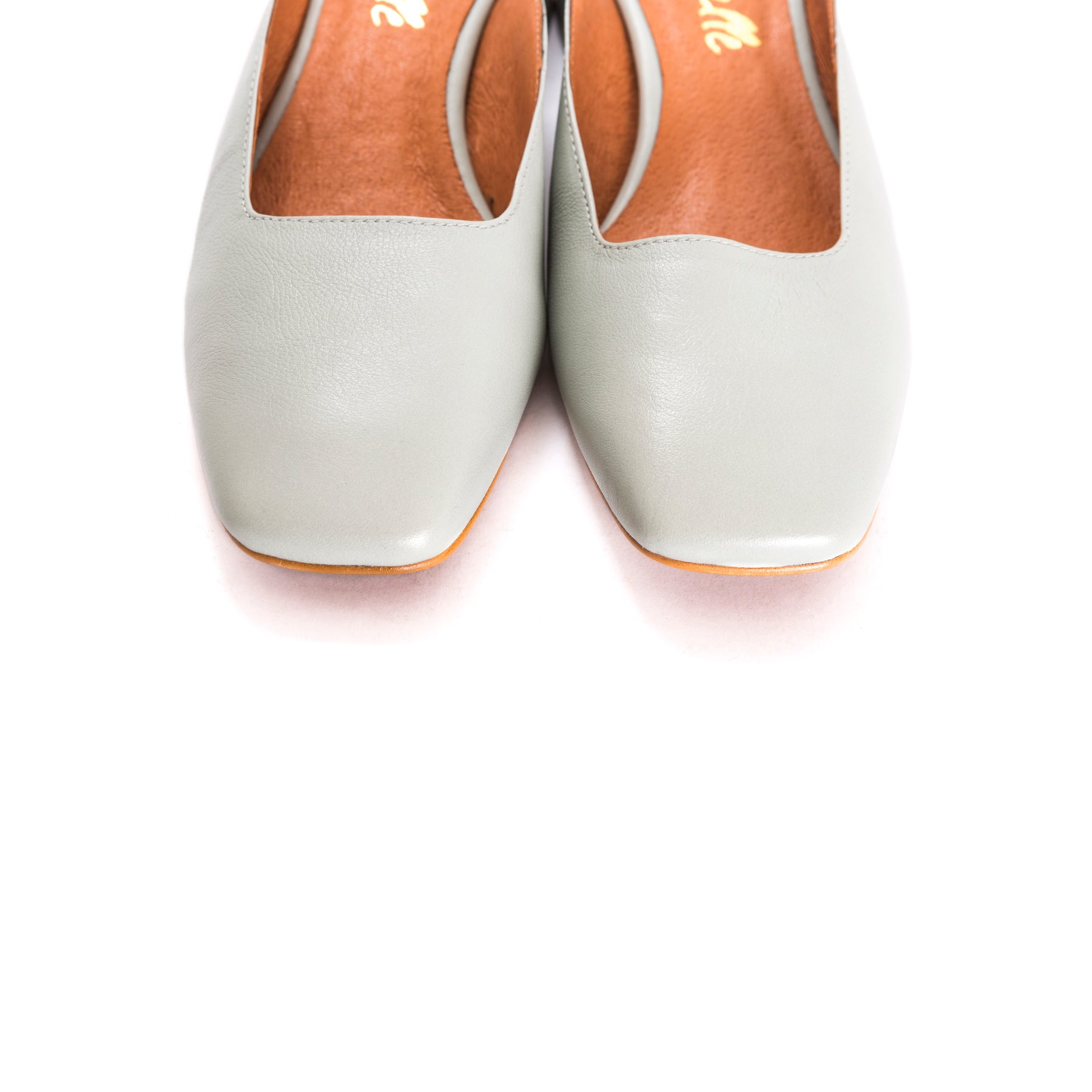 Margot Mint Leather Mules