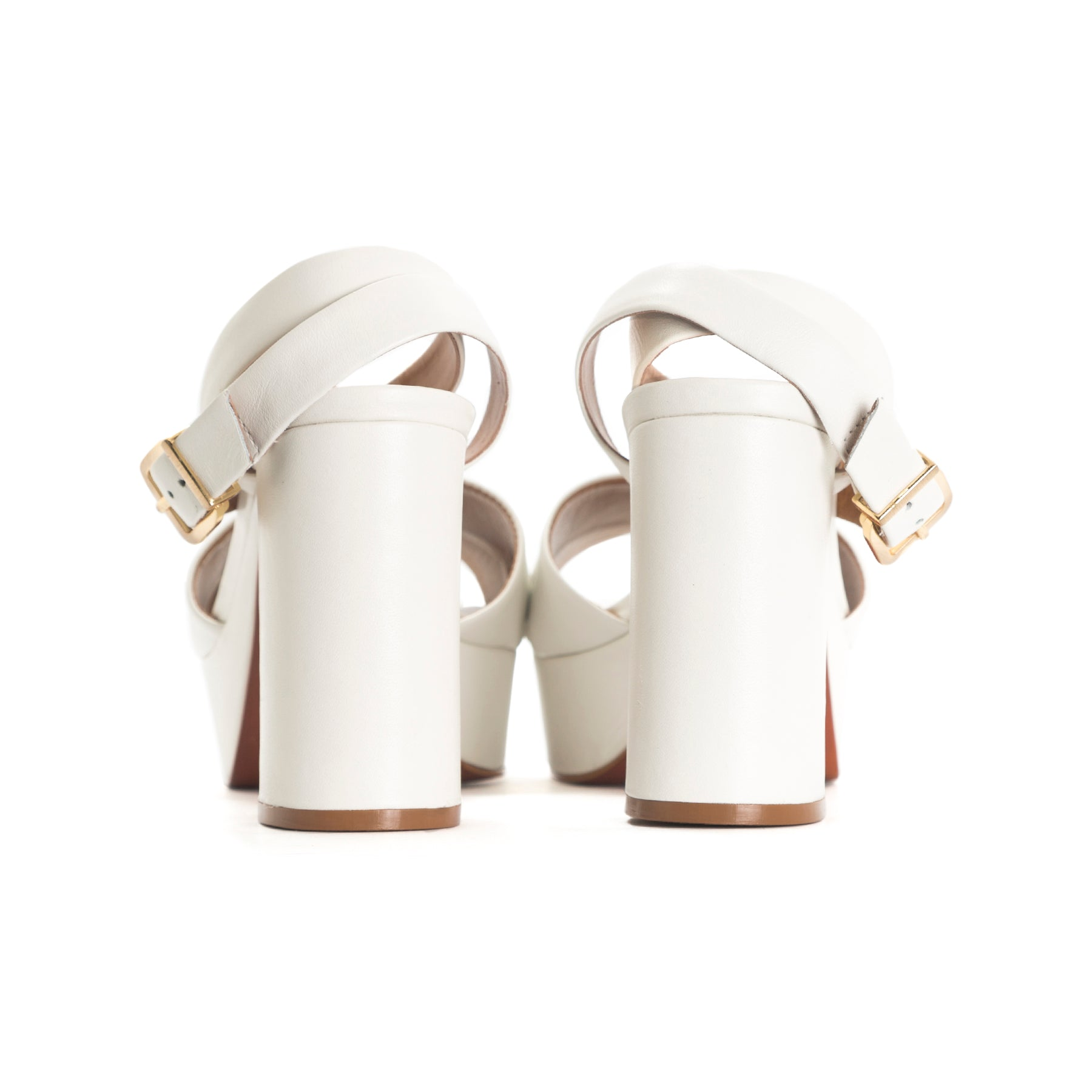 Marika White Leather Sandals - COMING SOON