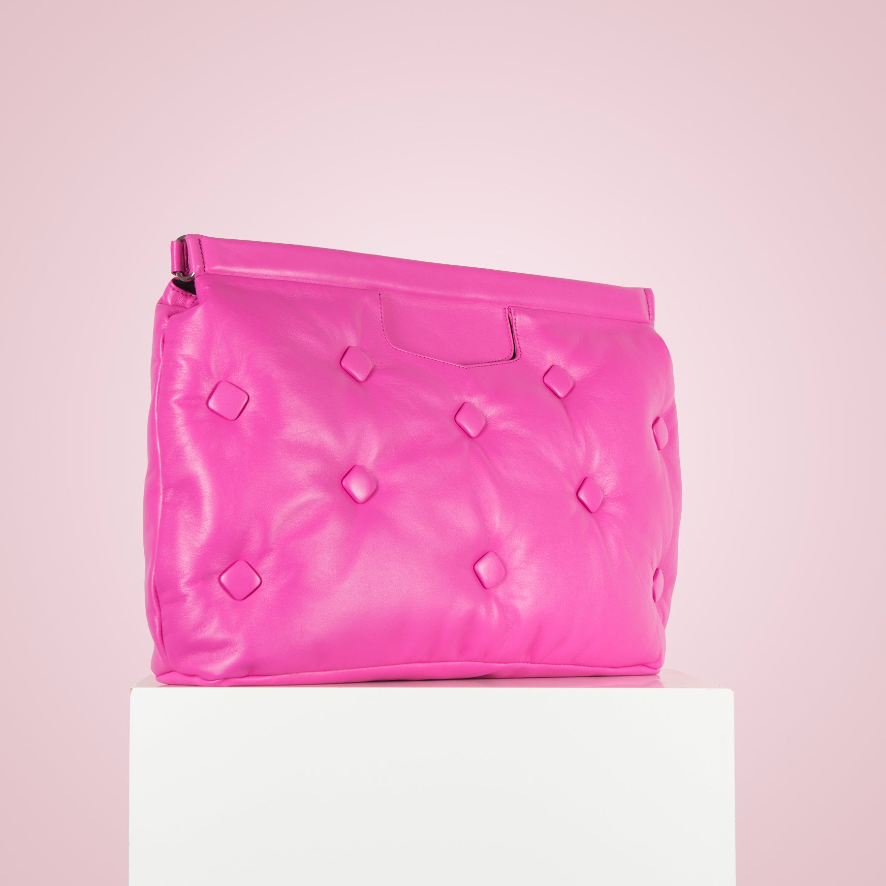 Marla Fuchsia Leather