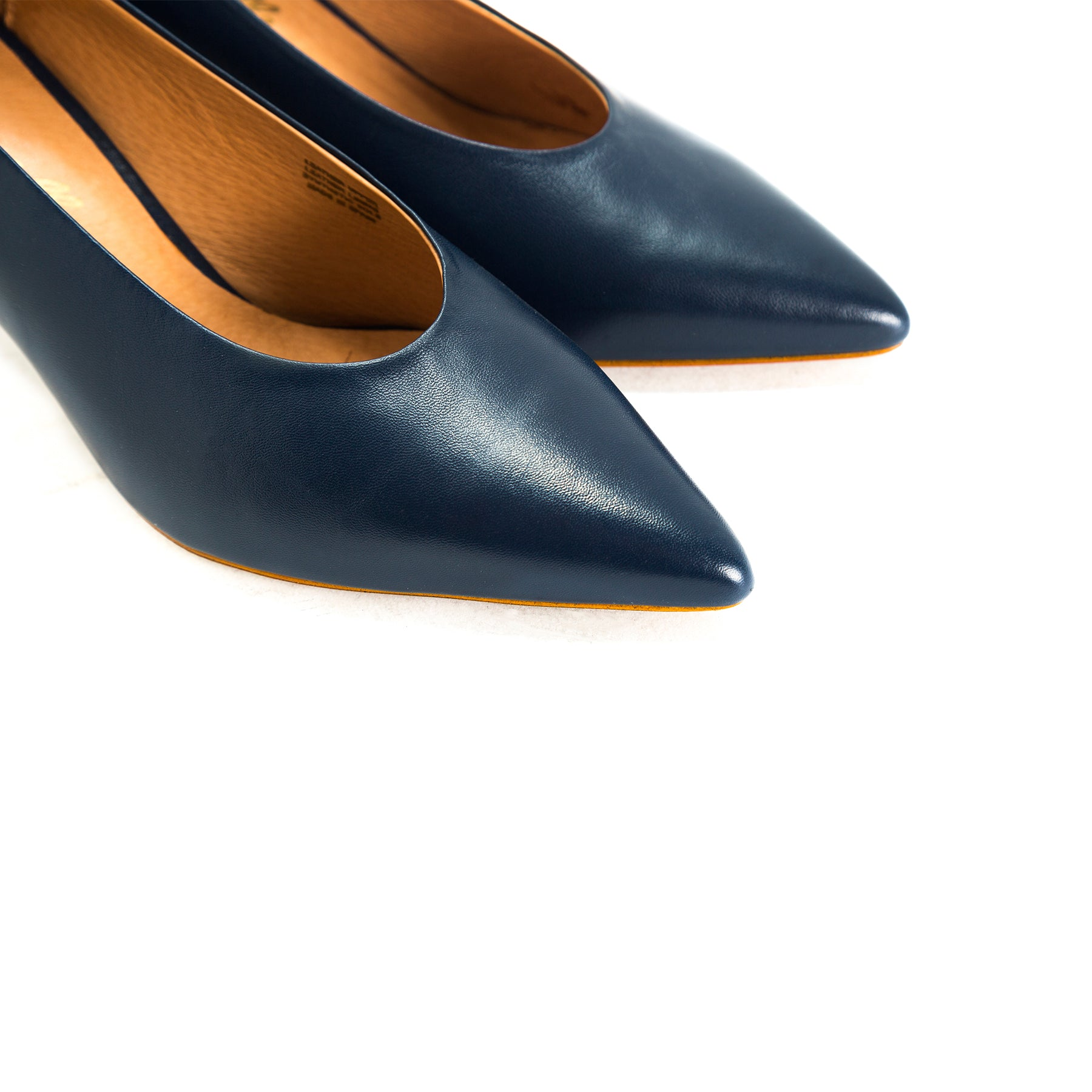 Melody Navy Leather Pumps