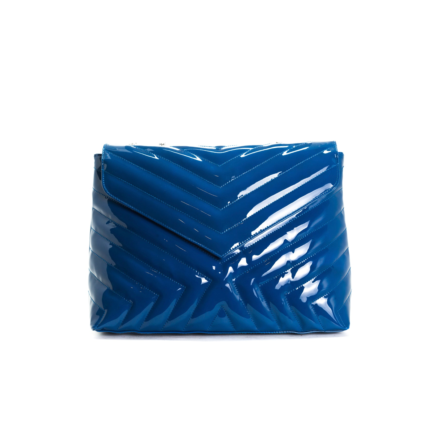 Melpo Blue Patent Bag