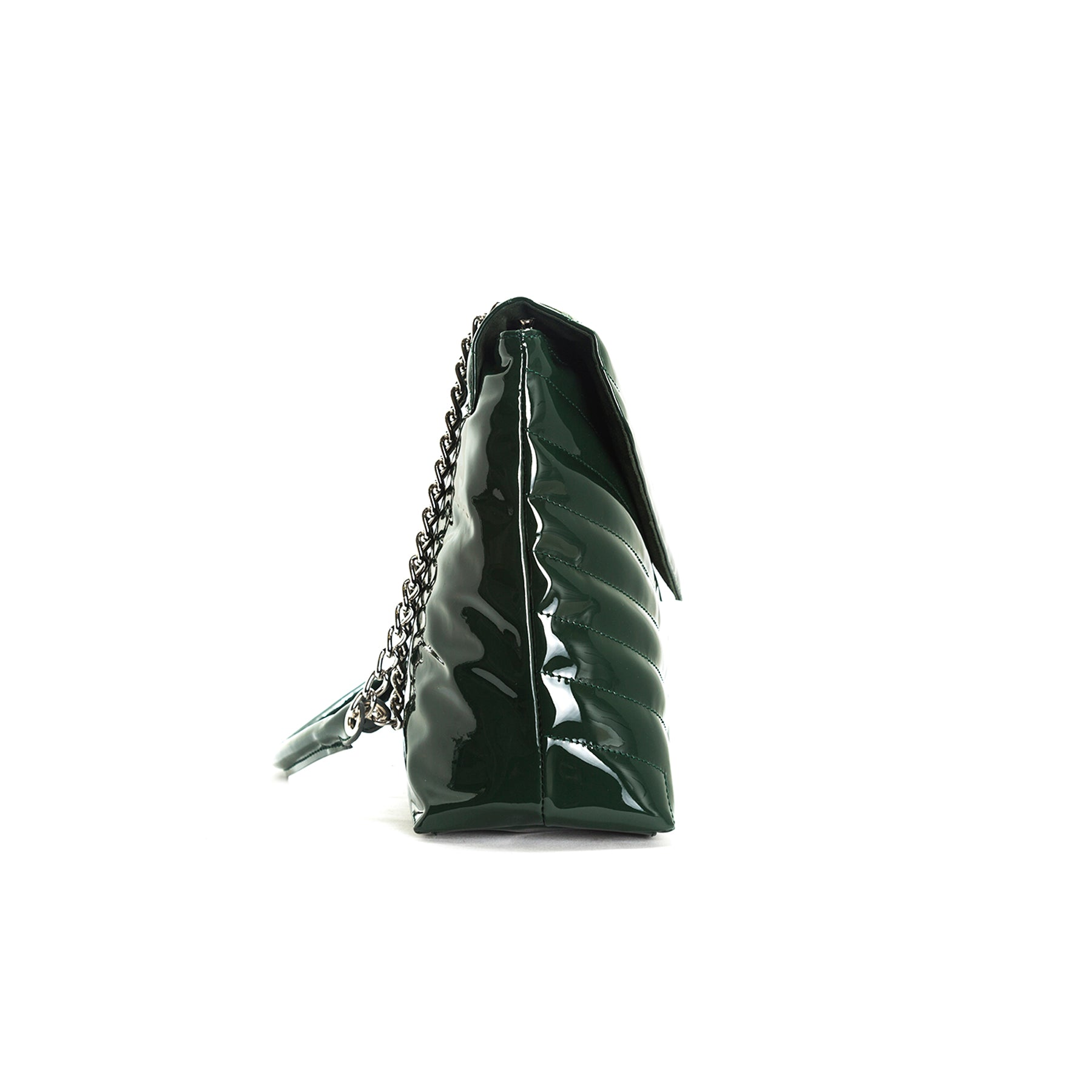 Melpo Green Patent Bag