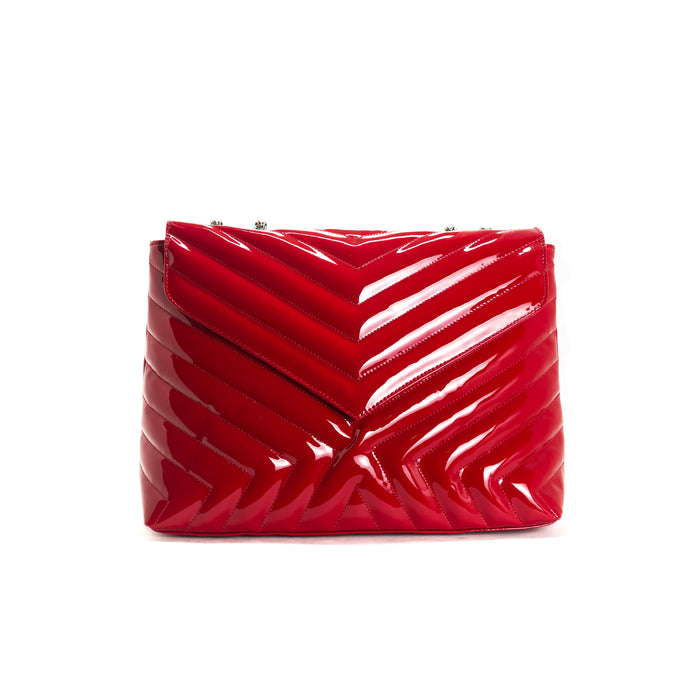 Melpo Red Patent Bag