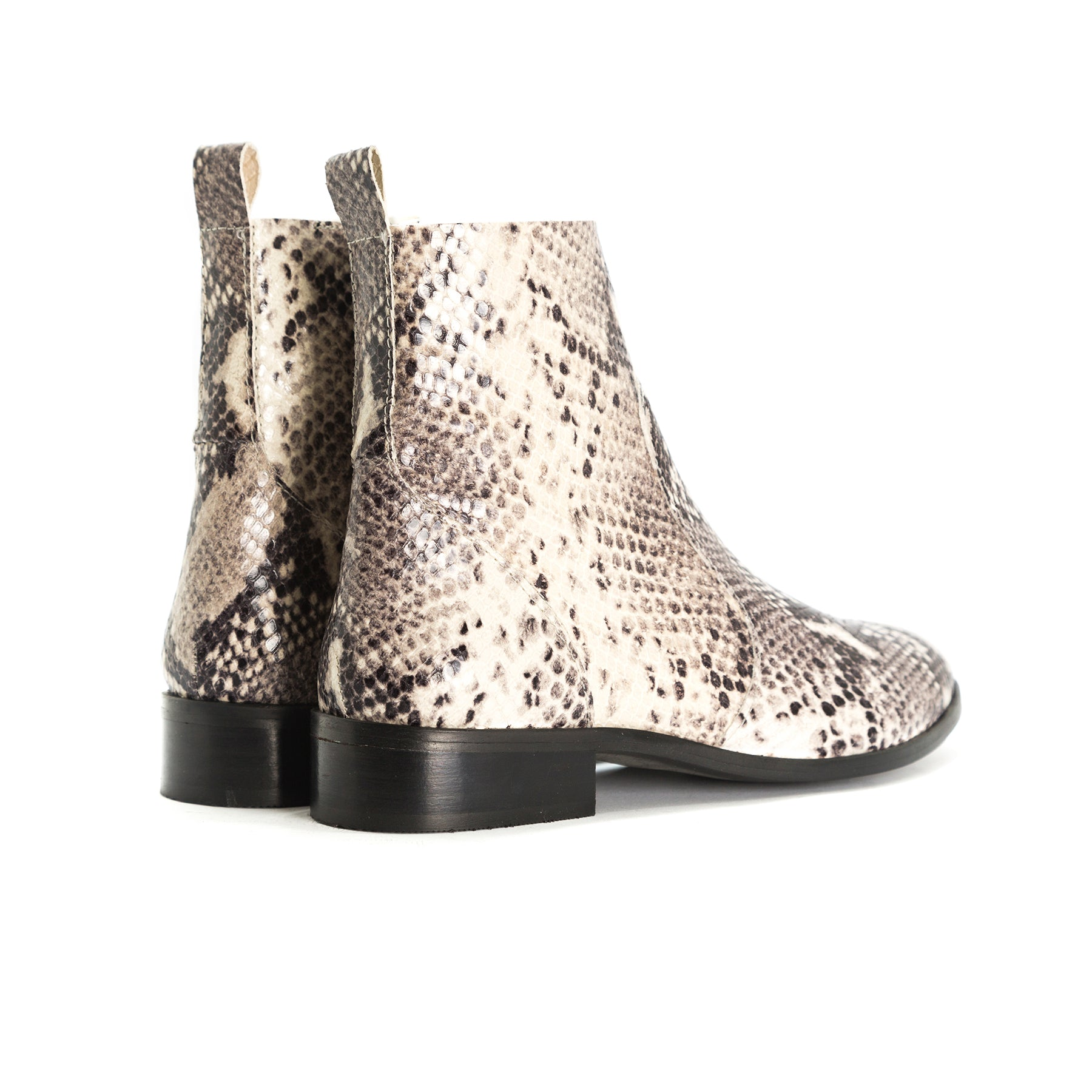 Mercer Nude Snake Booties
