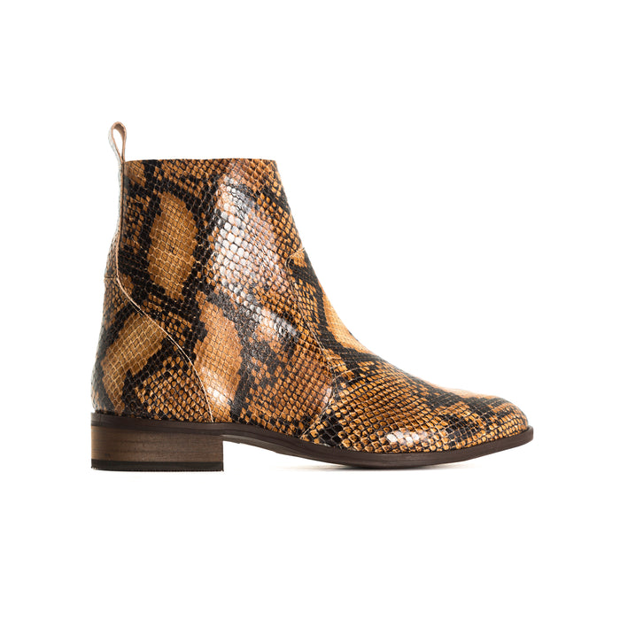 Mercer Tan Snake Booties