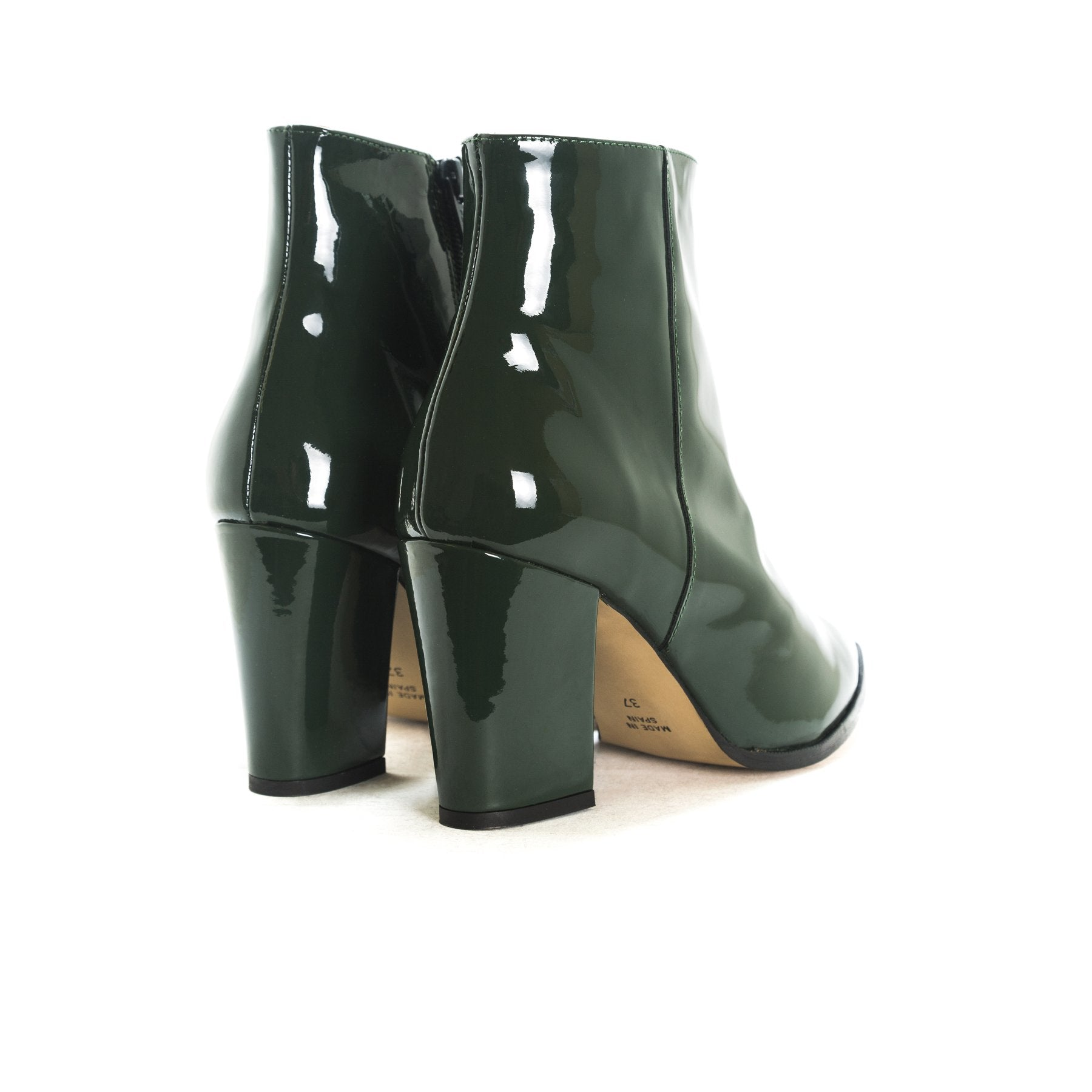 Merco Green Patent Boots