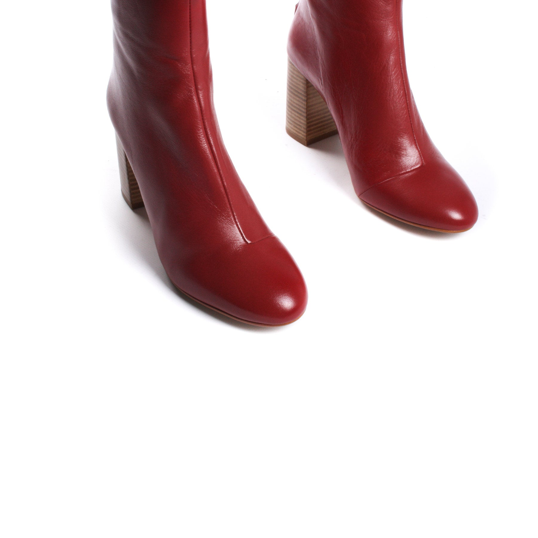 Mirta Red Leather