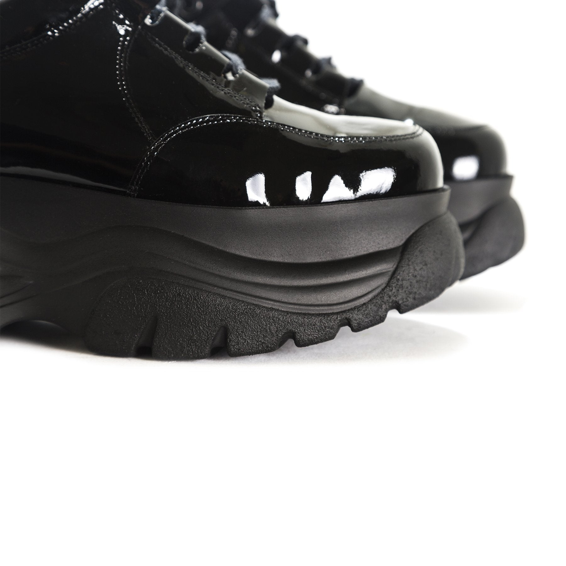 Moster Black Patent Sneakers