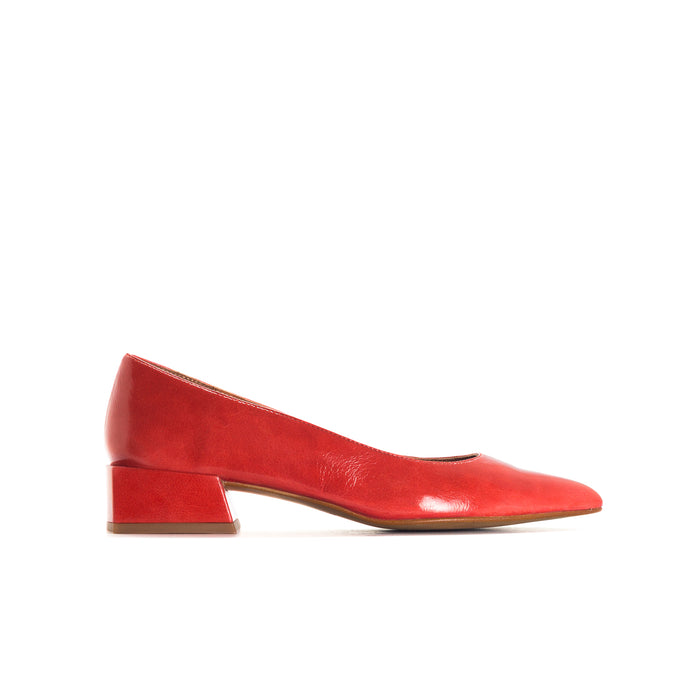 Navia Red Leather Shoes