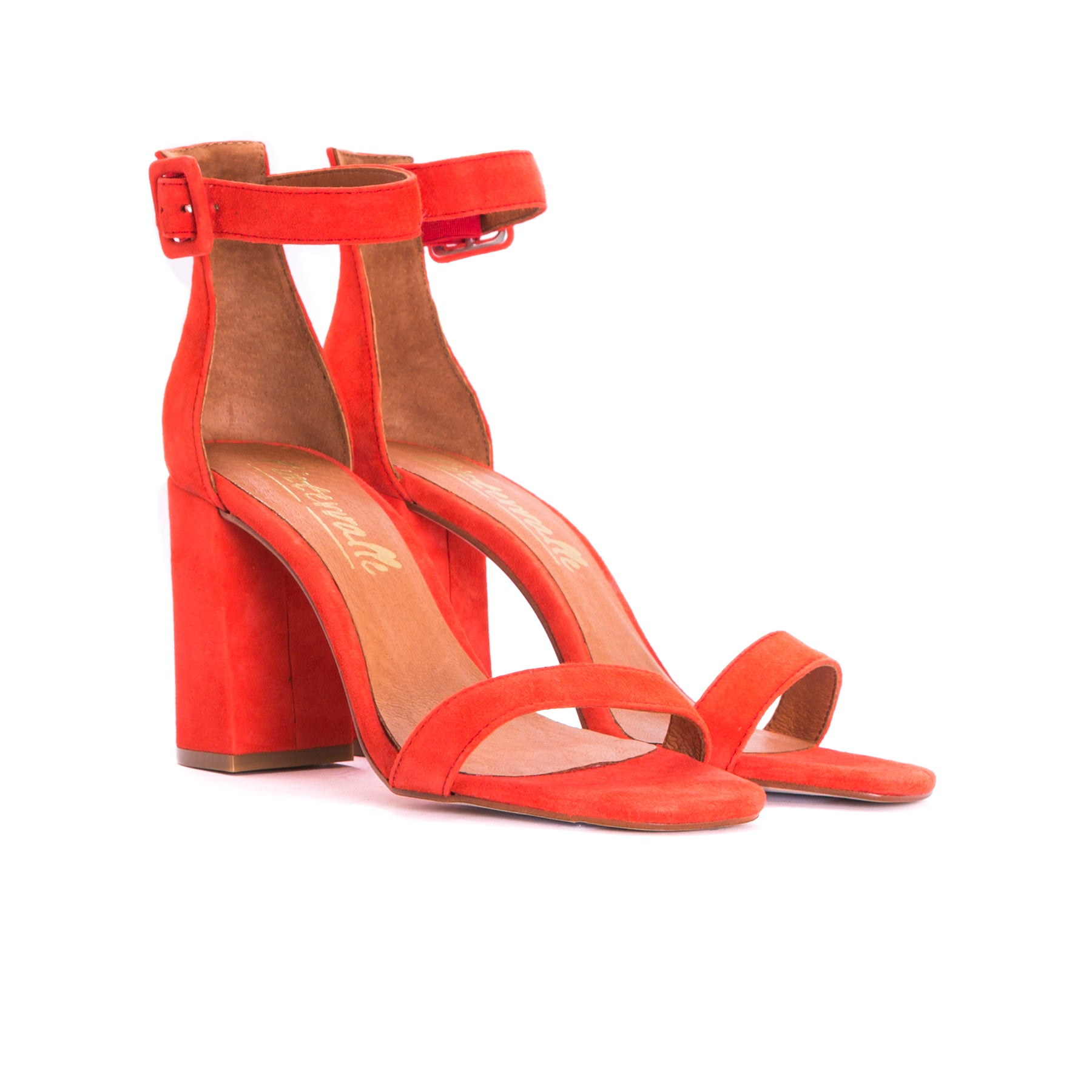 Nella Red Suede Sandals