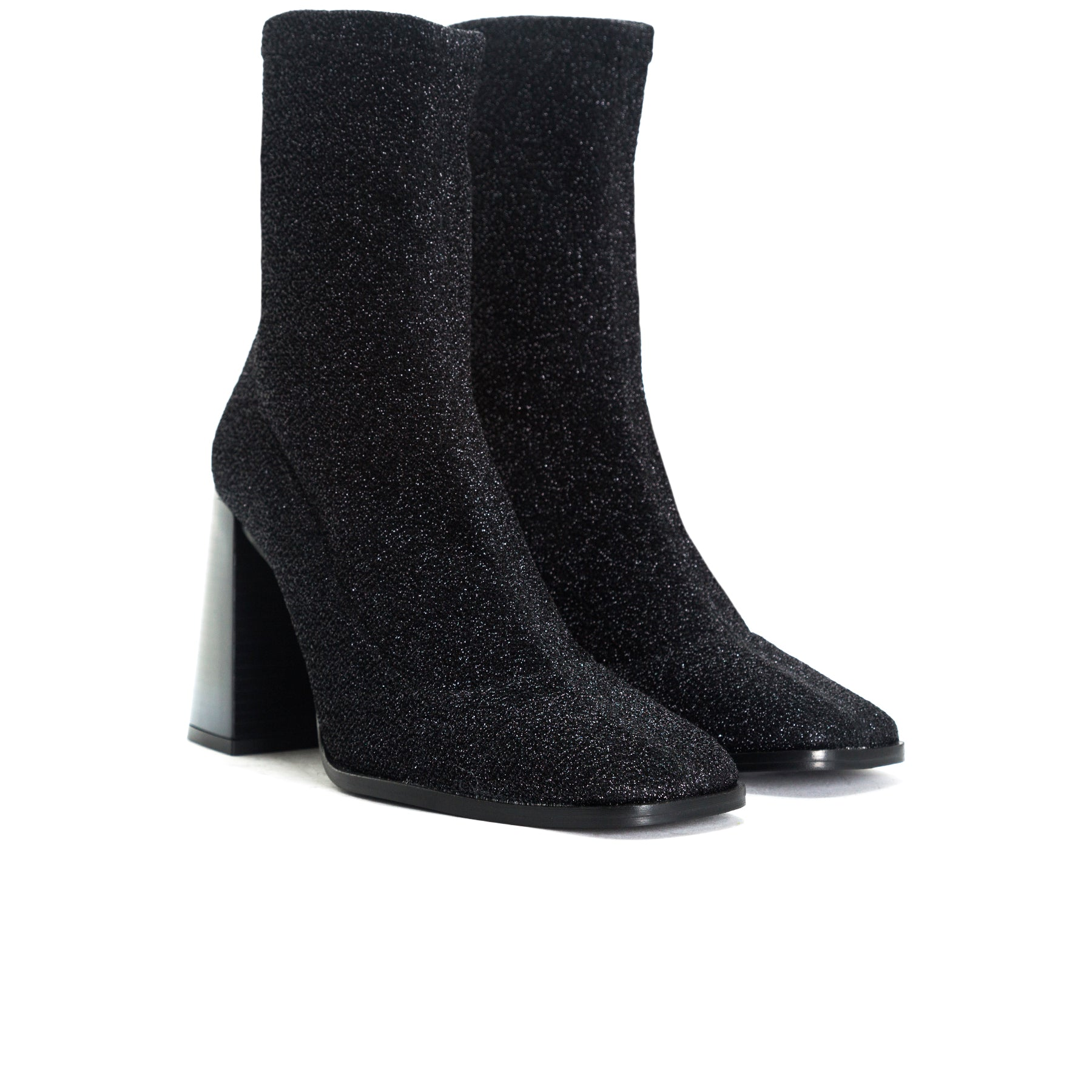 Nikiti Black Stretch Booties