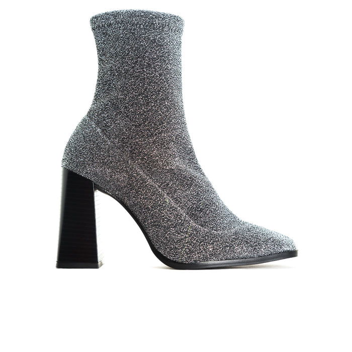 Nikiti Silver Stretch Booties
