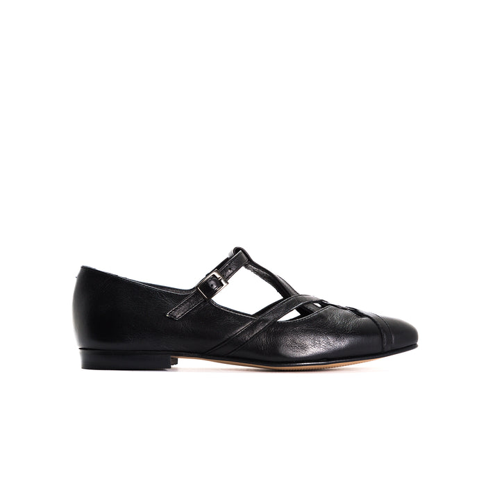 Nomero Black Leather Shoes