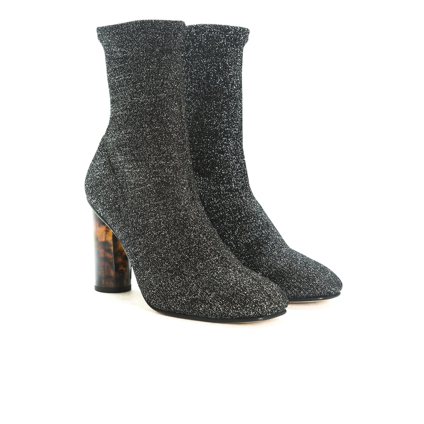 Norway Silver Fabric Boots