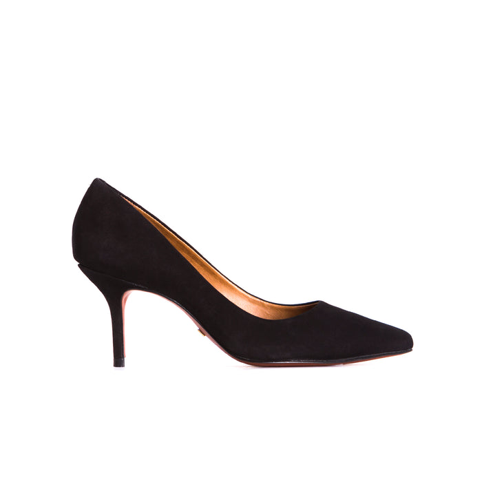 Officia Black Suede Pumps