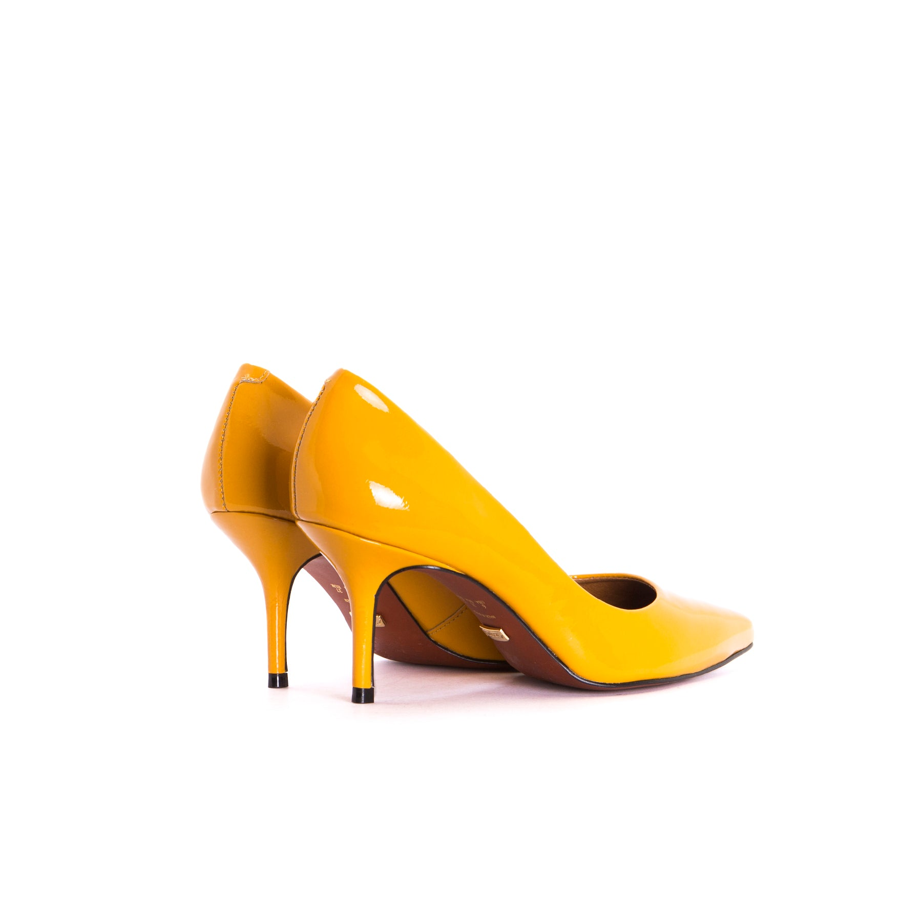 Officia Mustard Patent Pumps