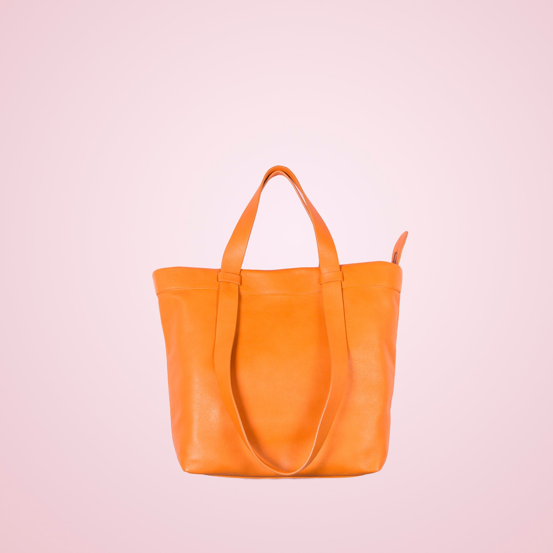 Claudine Orange Leather