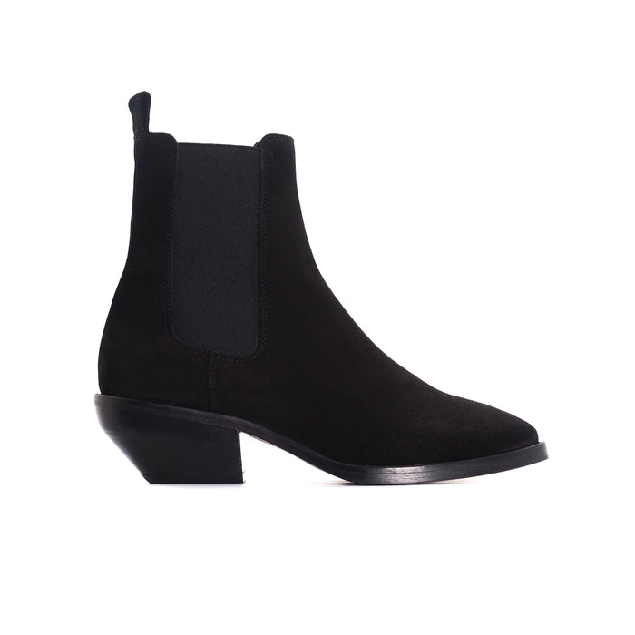 Osmond Black Suede Booties