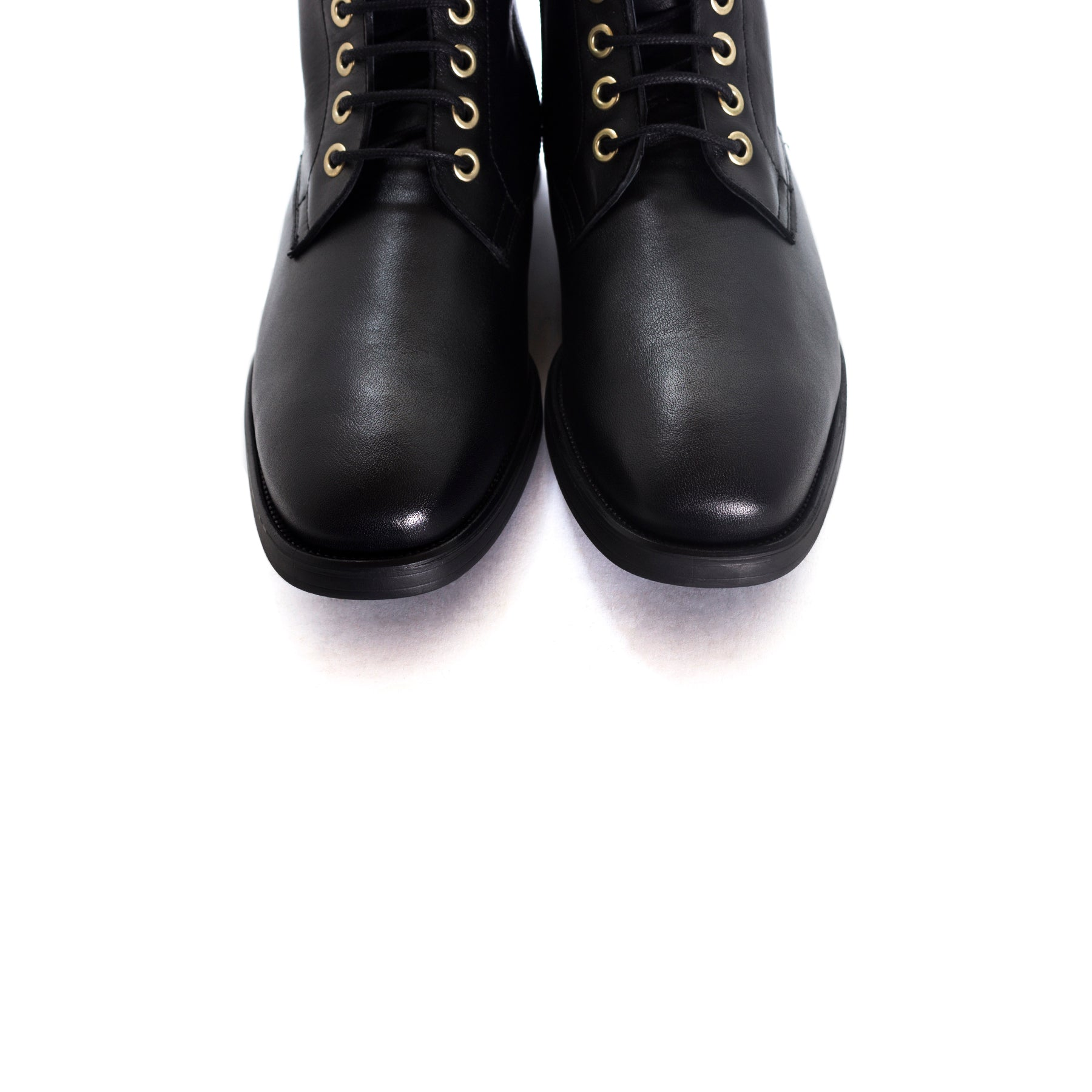 Penza Black Leather Booties