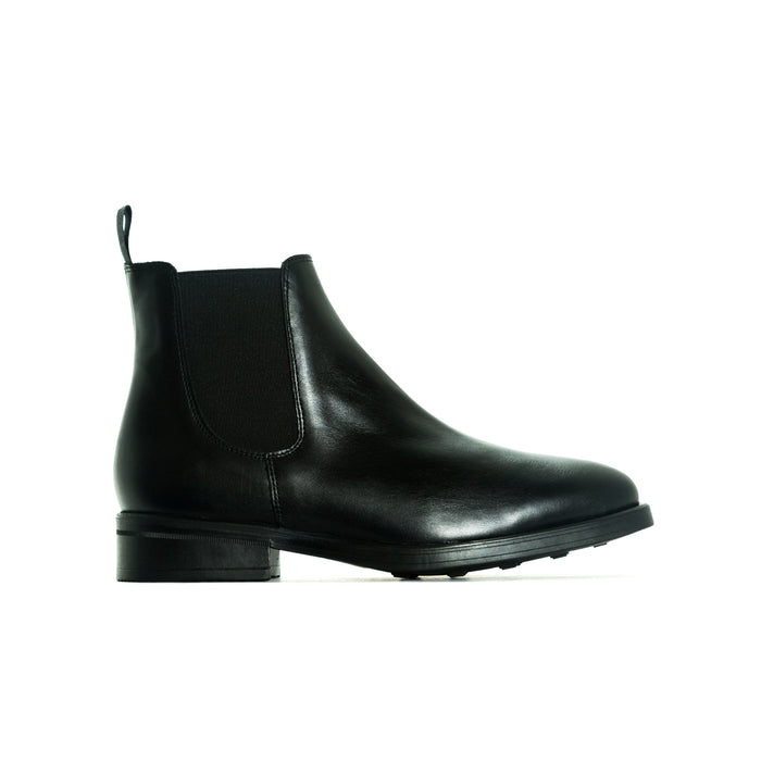 Percy Black Leather Booties