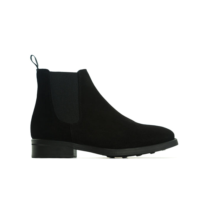 Percy Black Suede Booties