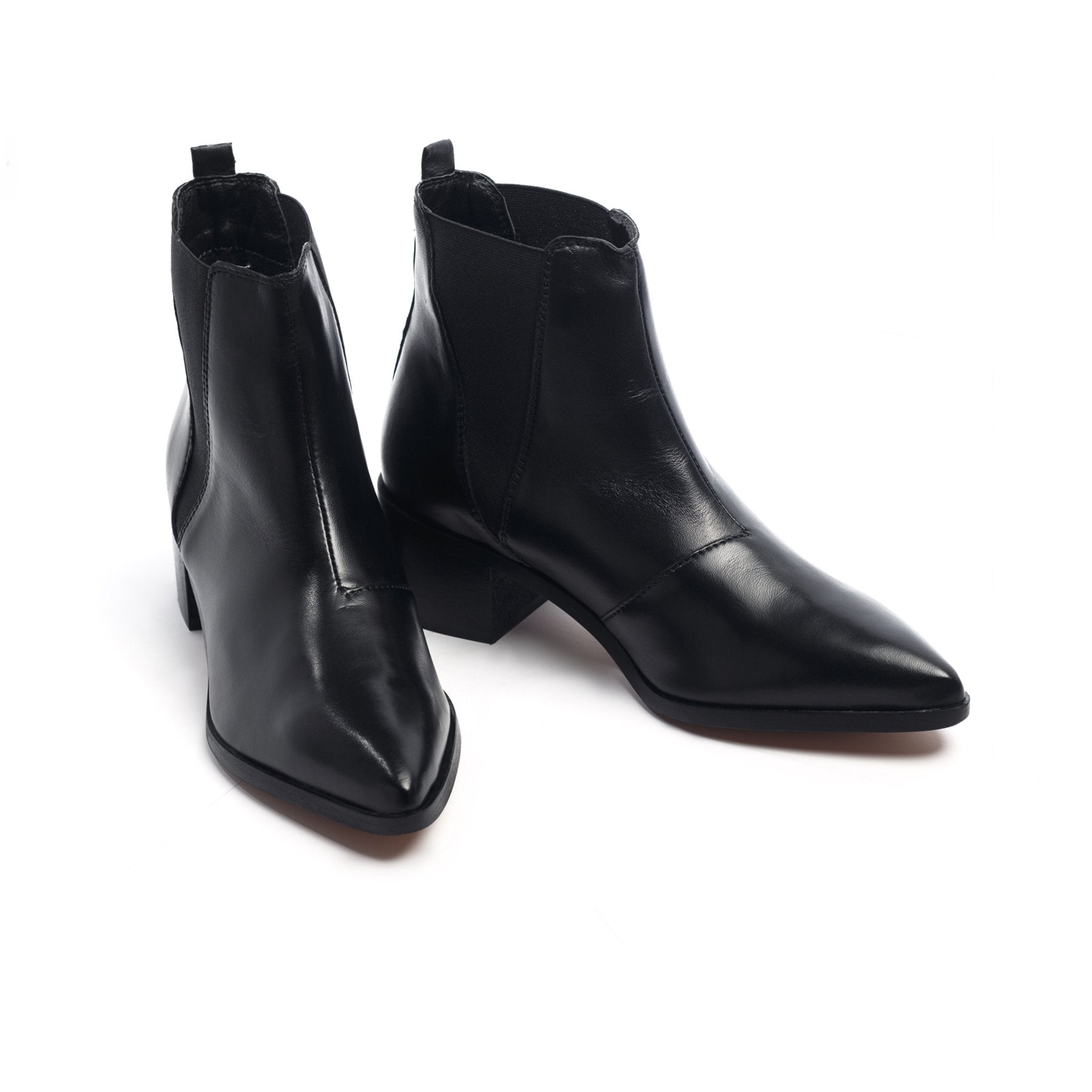 Perth Black Leather Boots