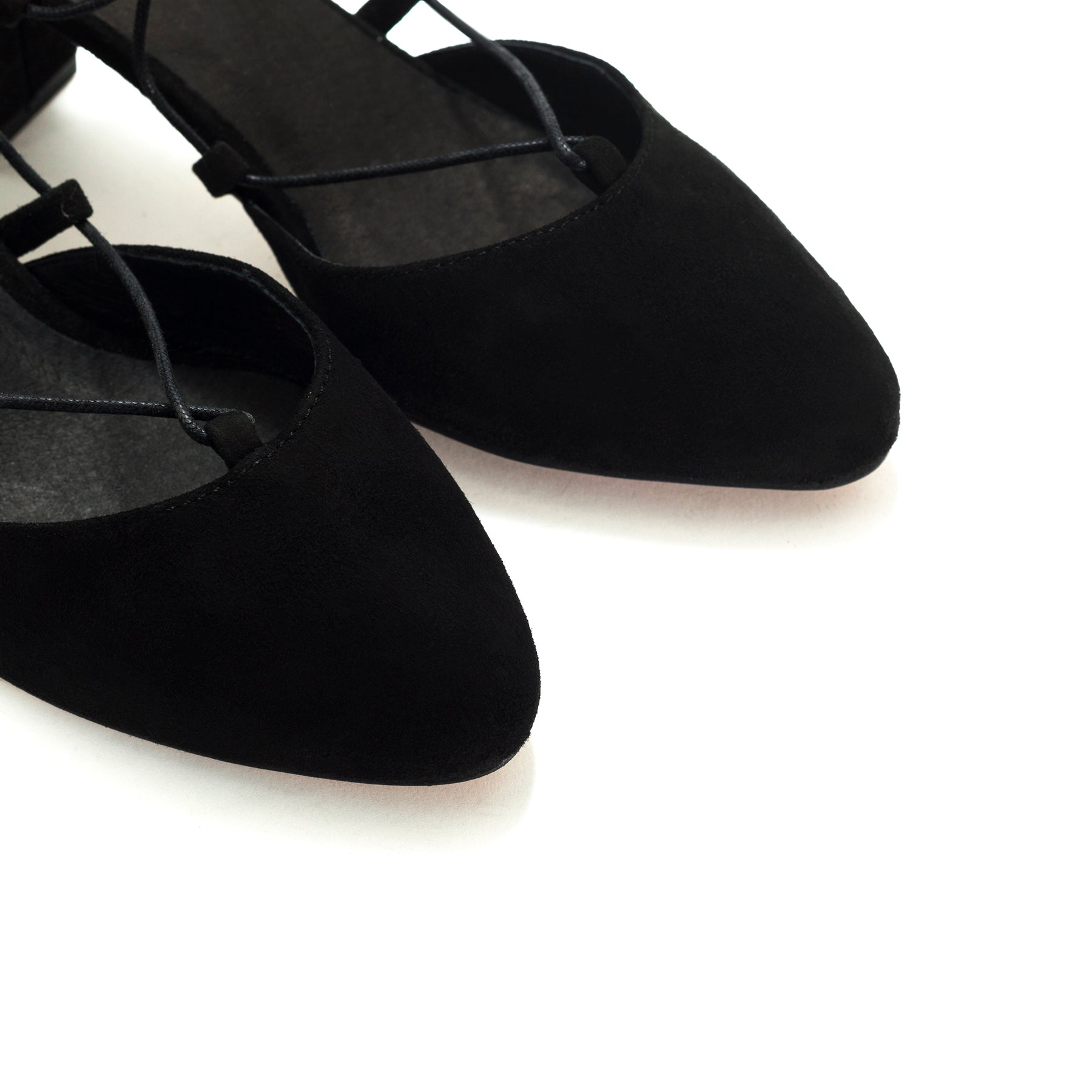 Piti Black Suede Pumps