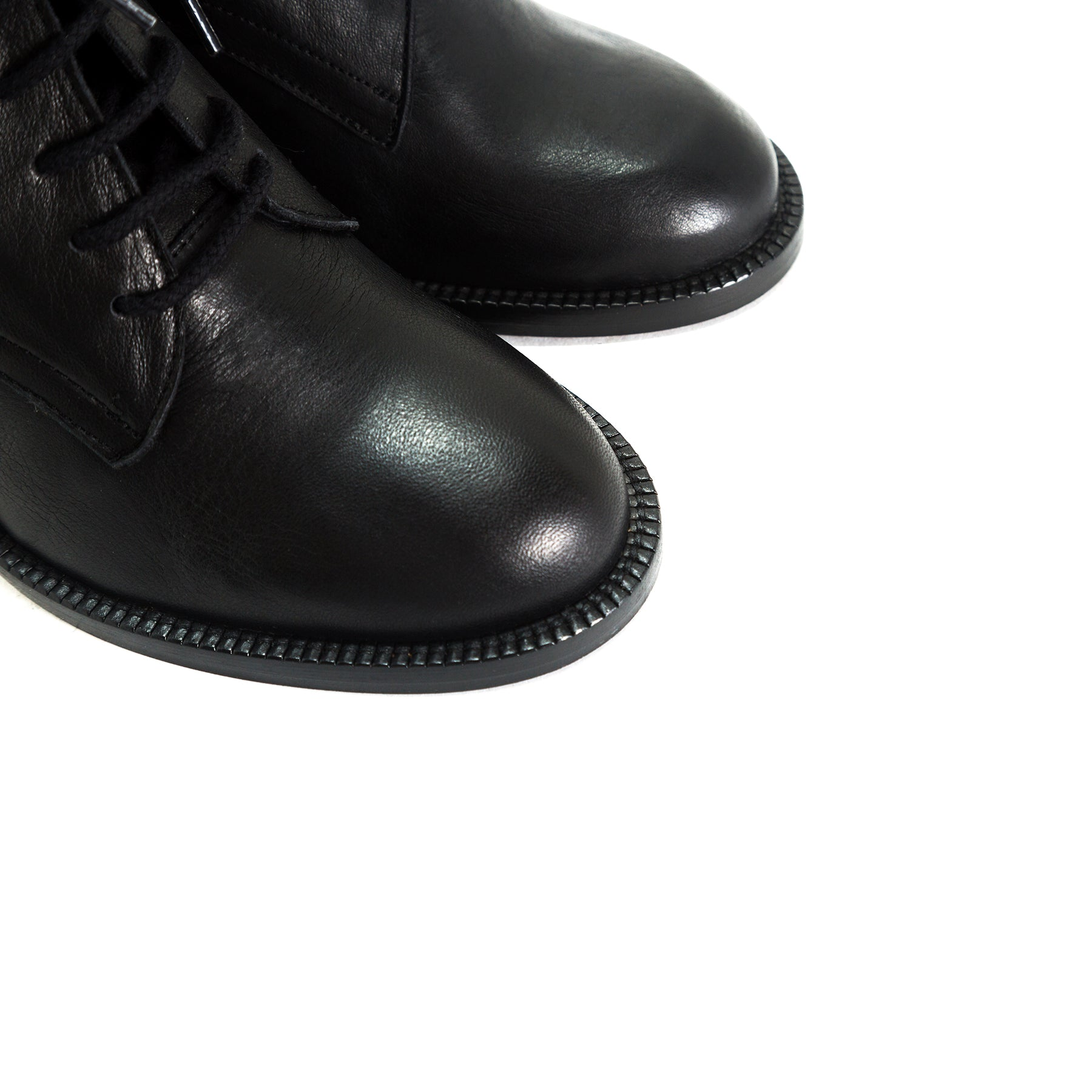 Pula Black Leather Booties