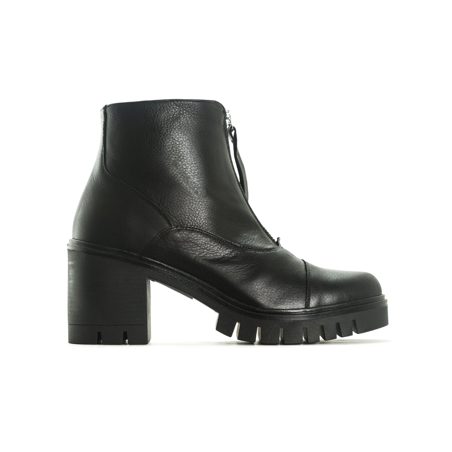Radcliff Black Leather Platforms