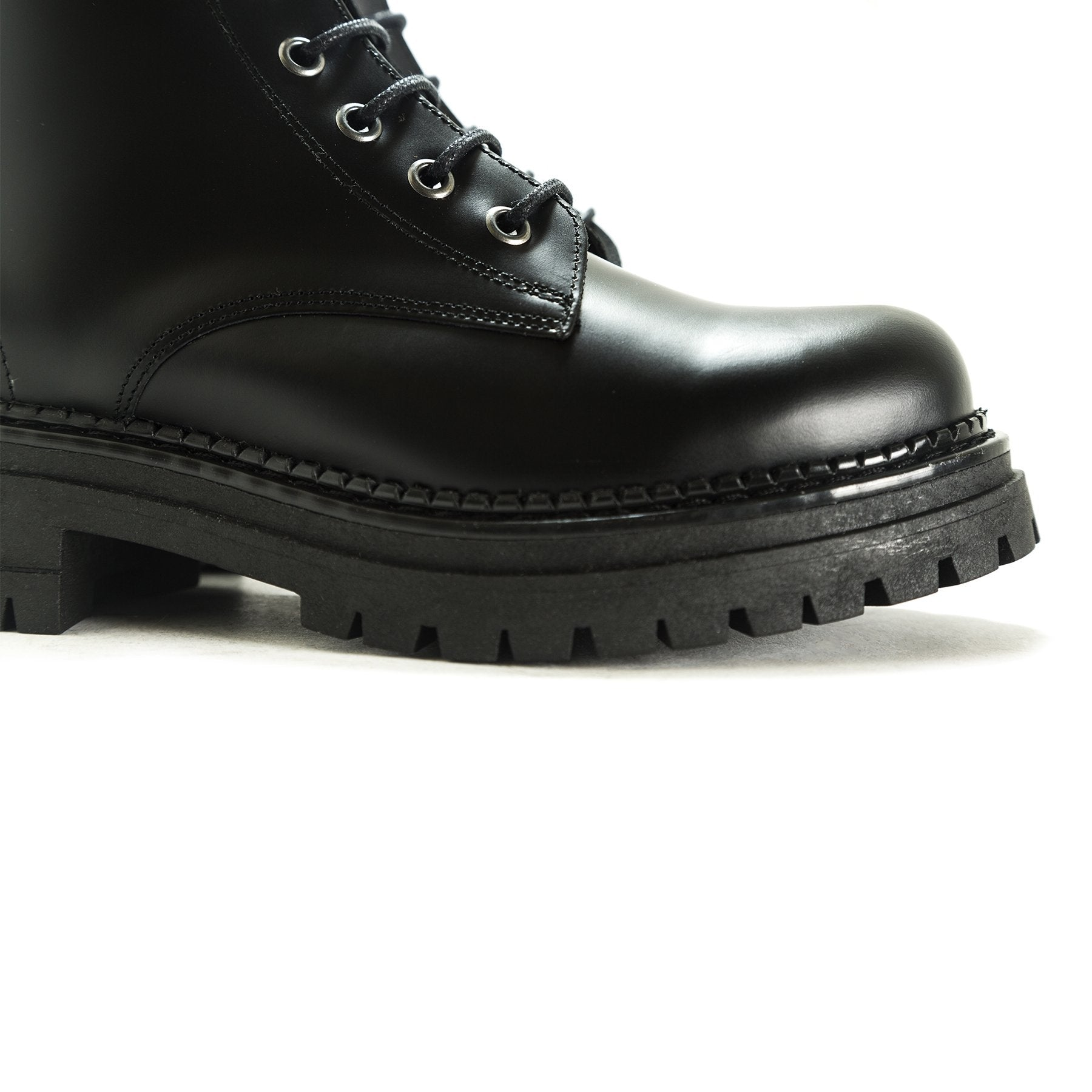 Rambo Black Leather Boots