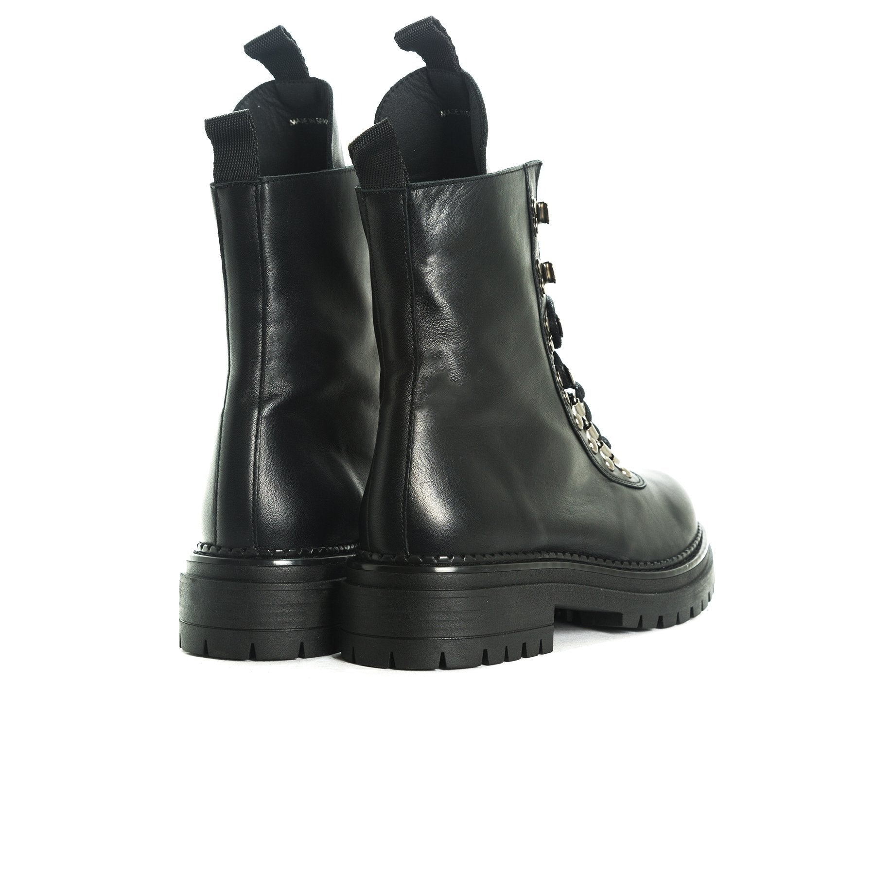 Reina Black Leather Boots