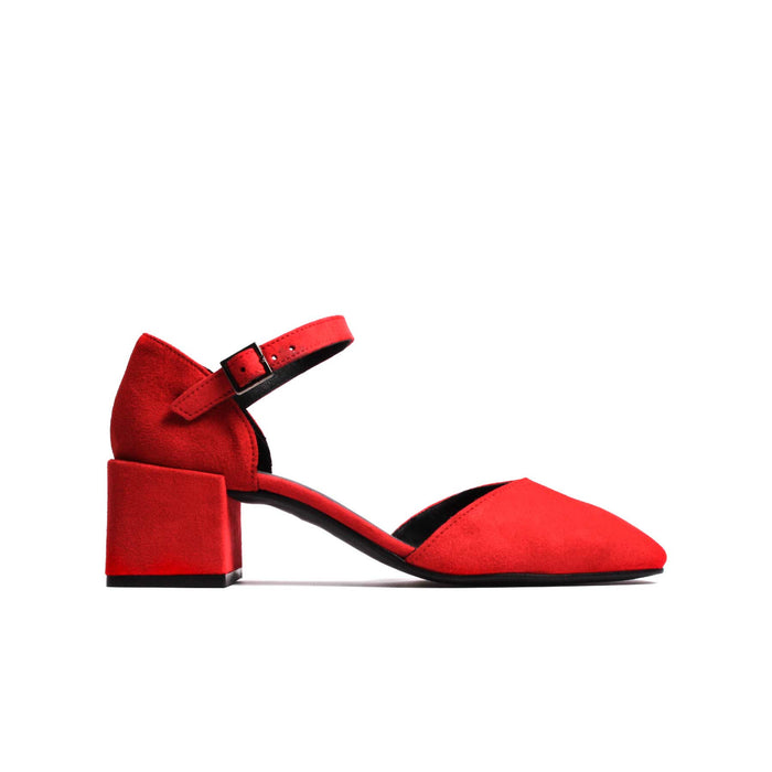 Riva Red Suede