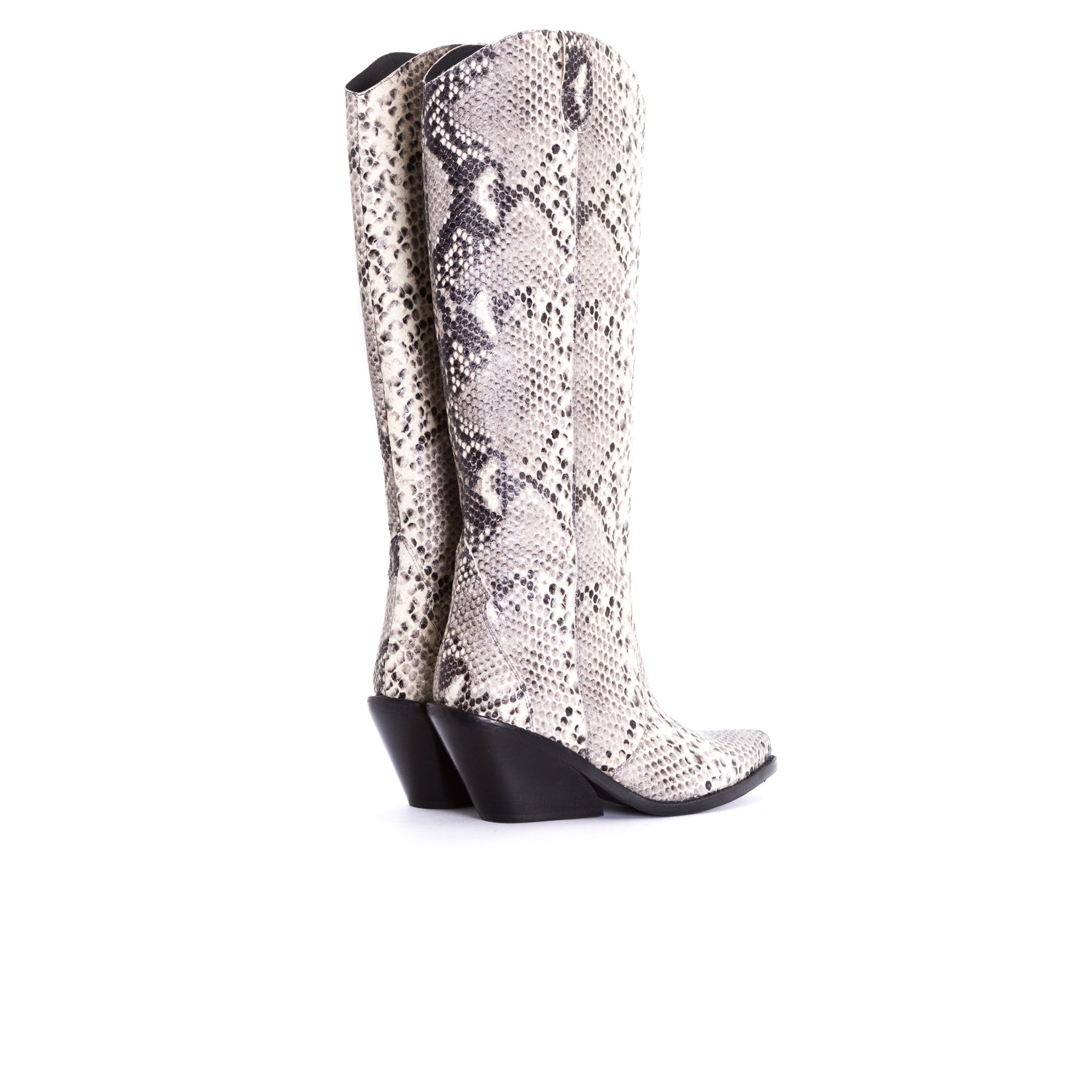 Roky Natural Snake Leather Boots