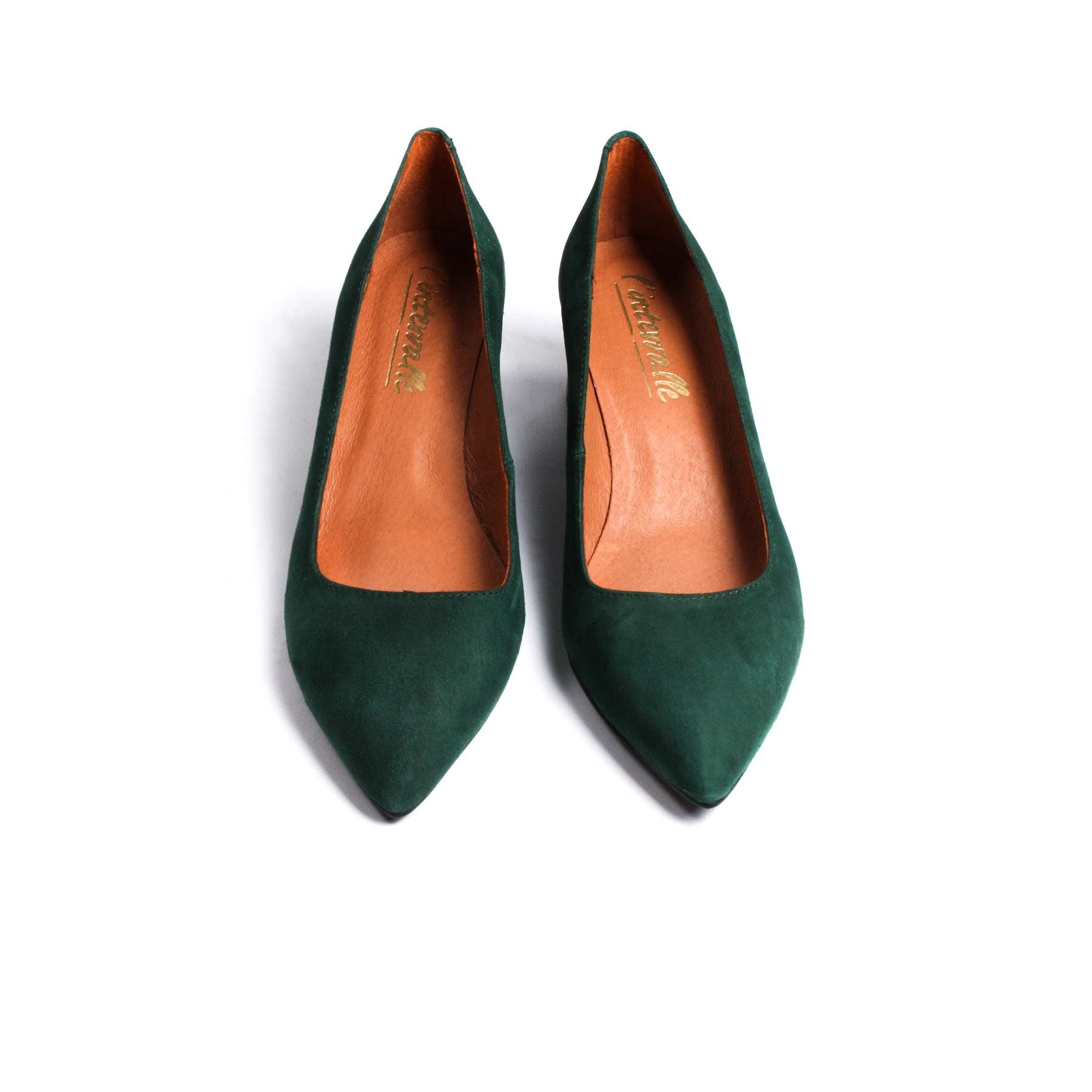 Roma Green Suede