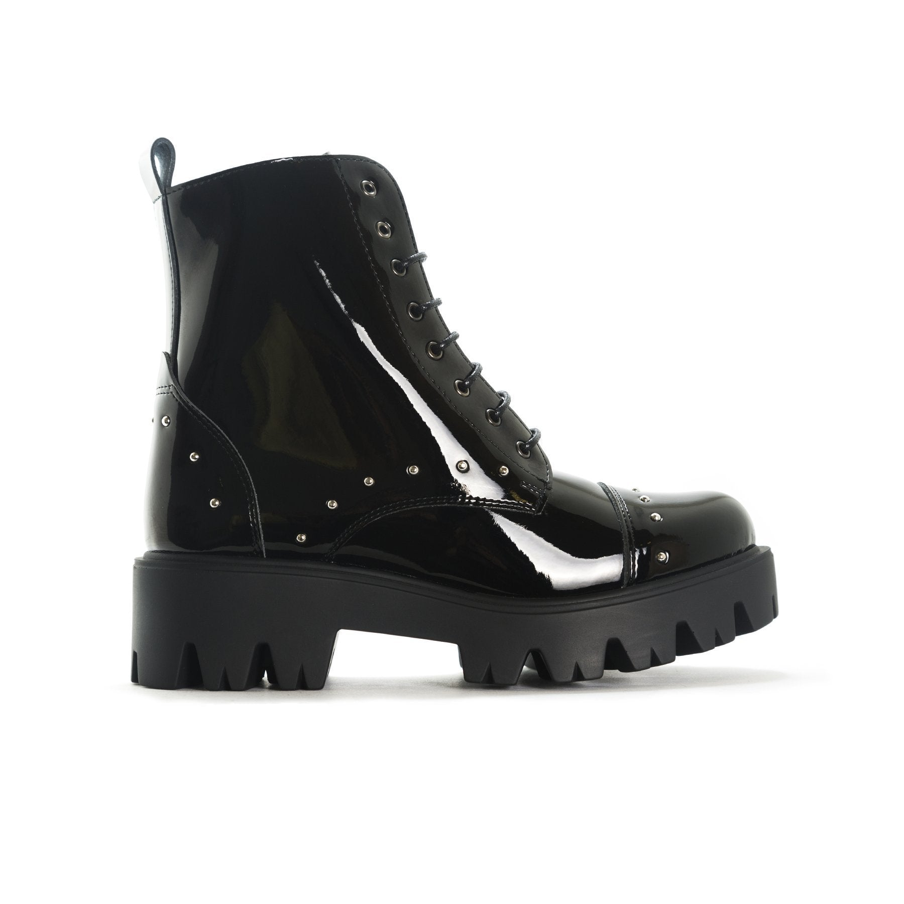 Booties Punk Black Patent