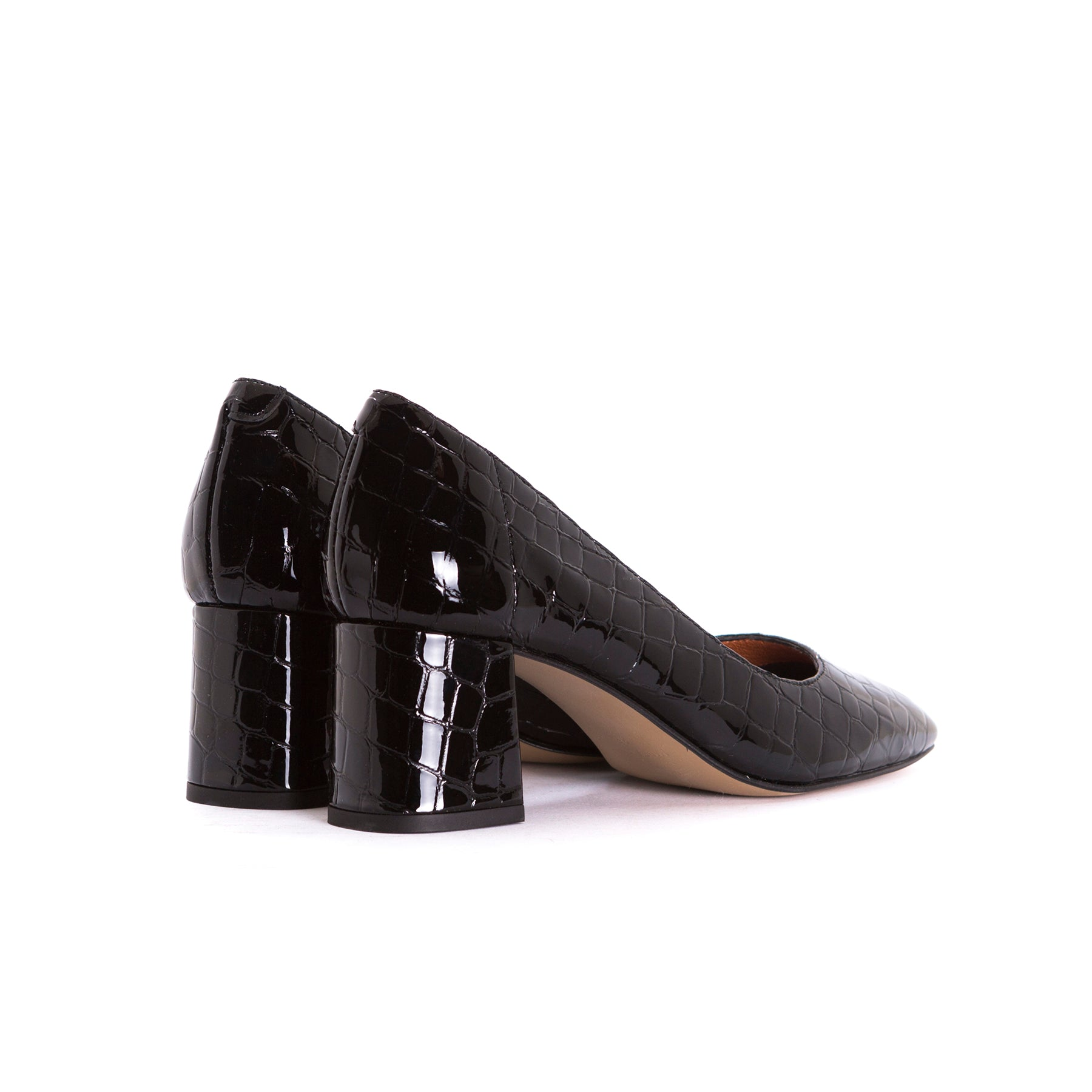 Rupie Black Croco Pumps