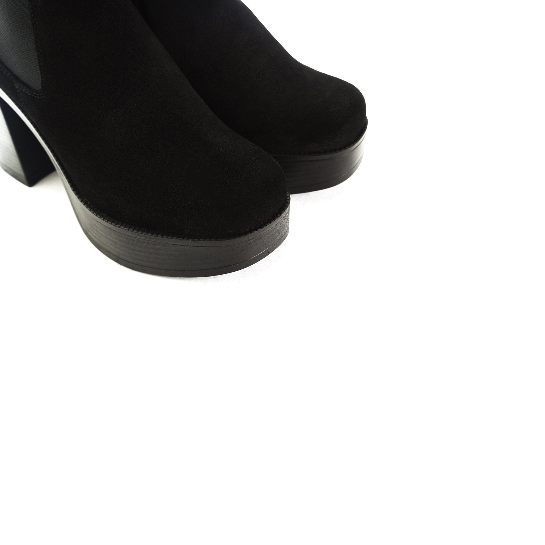 Sally Black Suede Boots