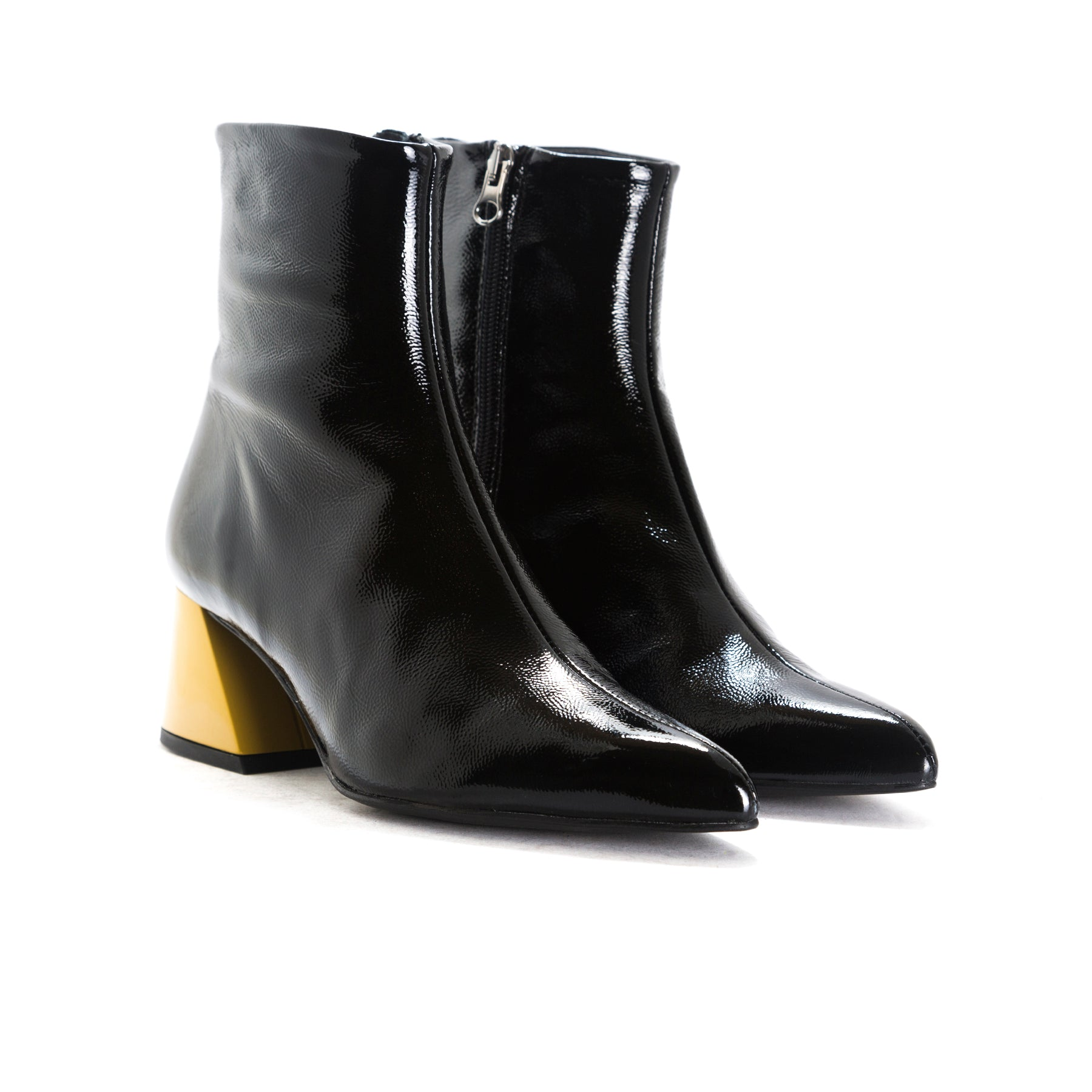 Salonika Black Naplack Booties