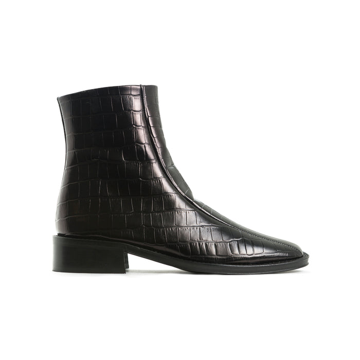 Samson Black Croco Leather