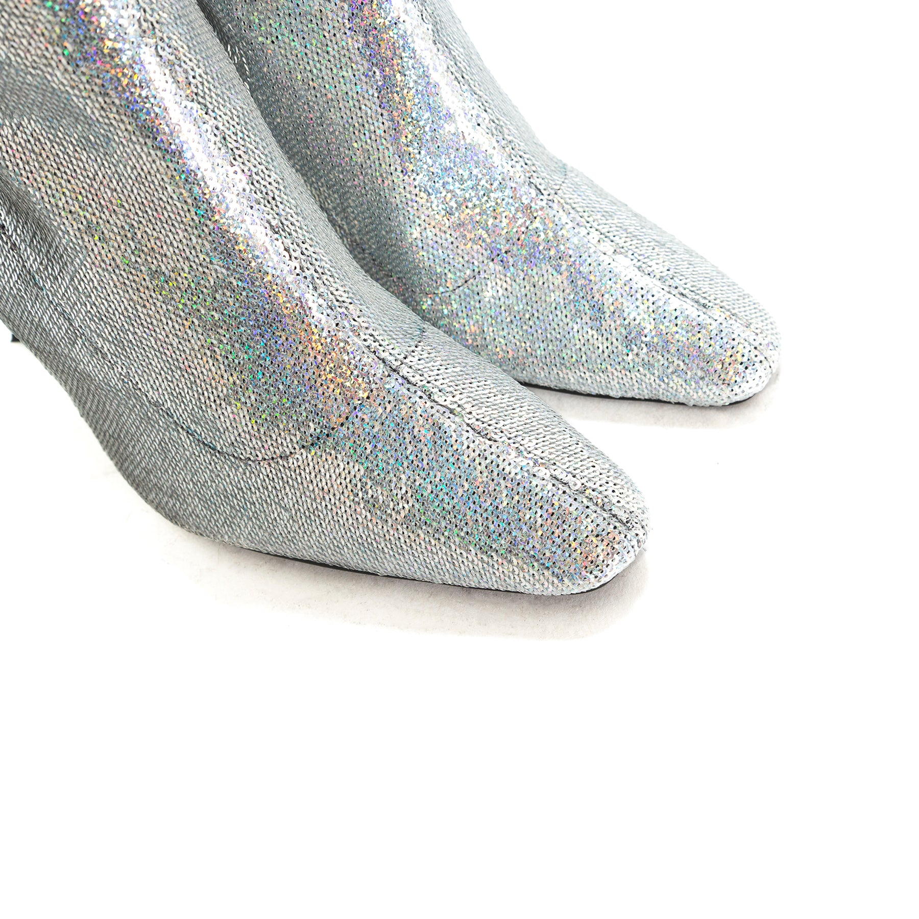 Sar Silver Fabric Booties